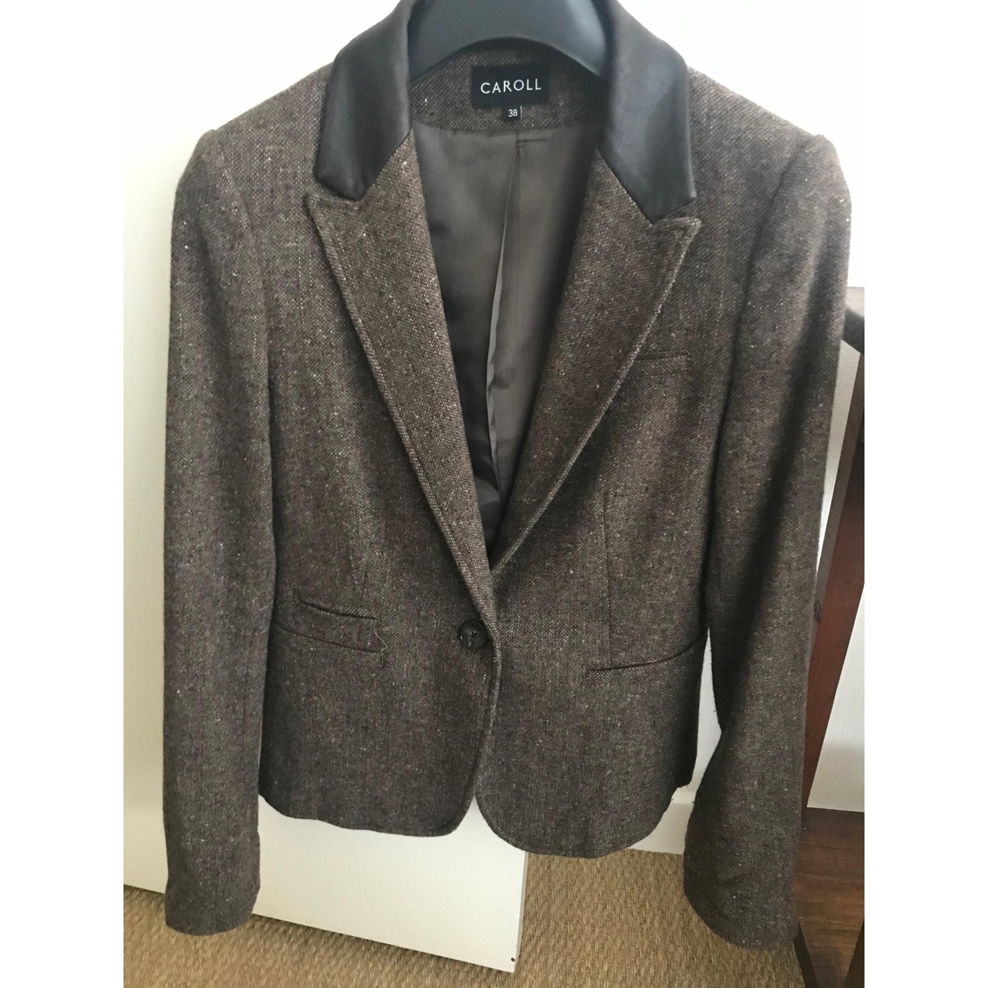Blazer, veste tailleur CAROLL Marron