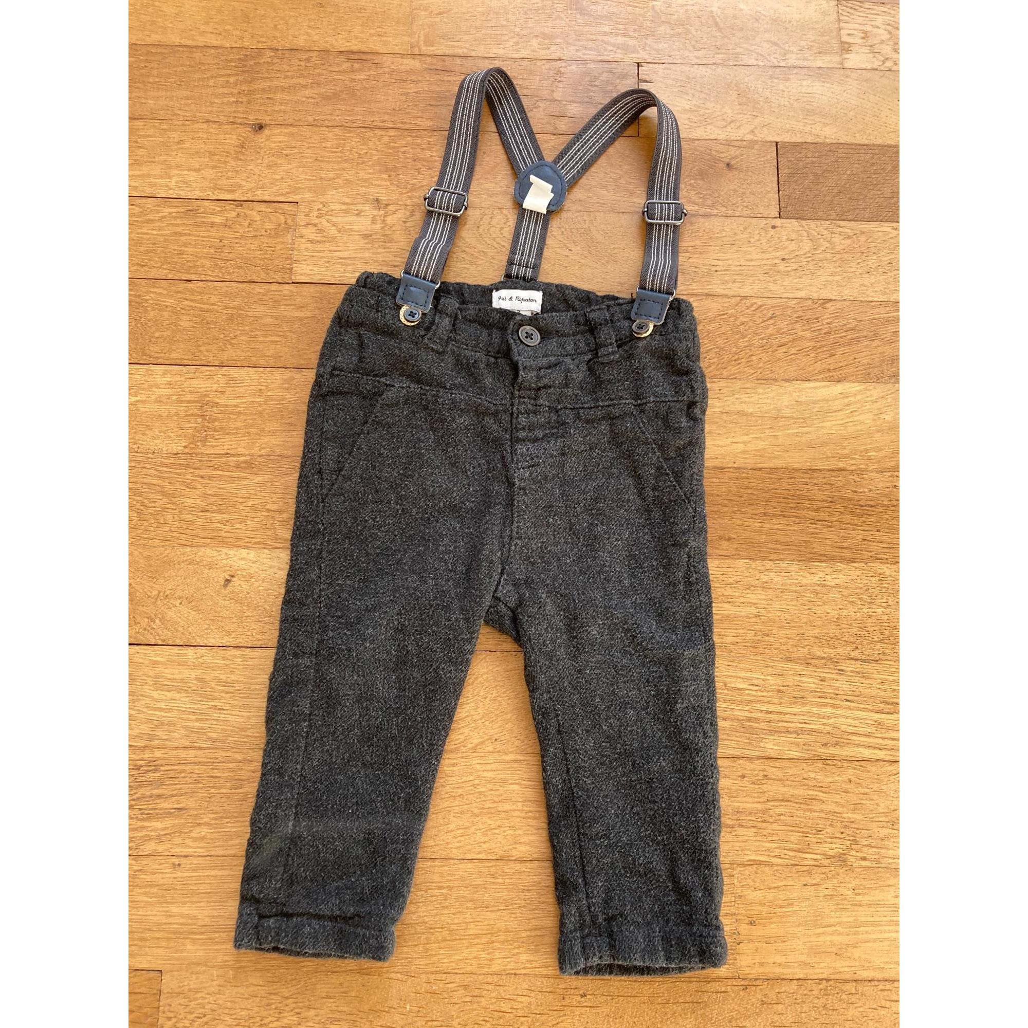 Pantalon PAT ET RIPATON Gris, anthracite