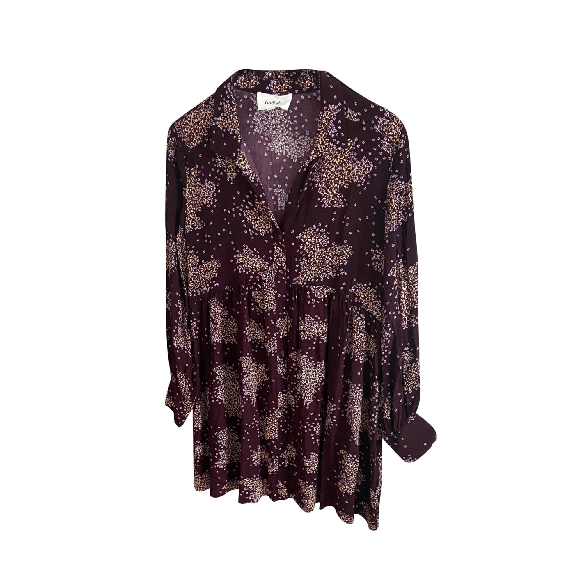 Robe courte BA&SH Violet, mauve, lavande