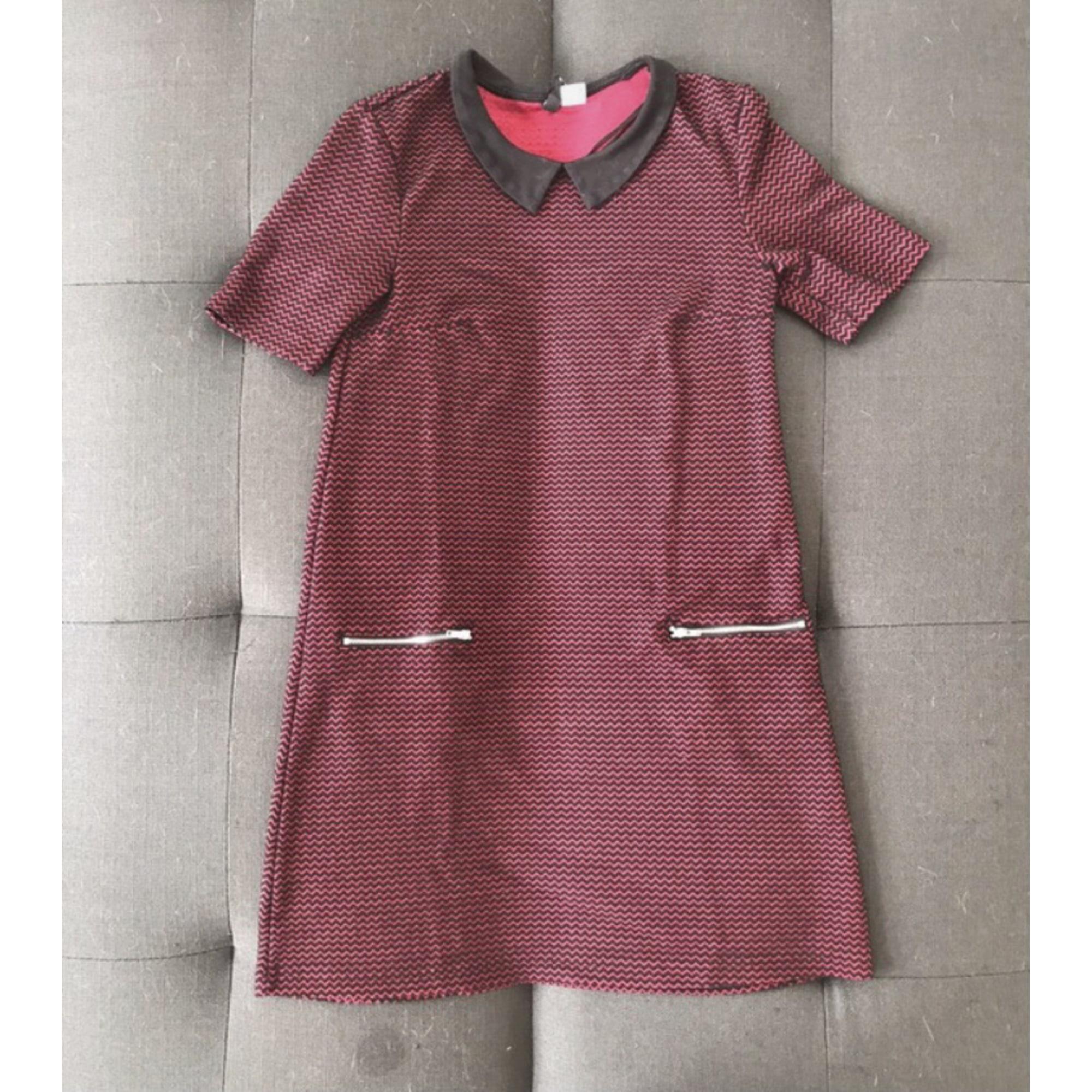 Robe courte H&M Rouge, bordeaux