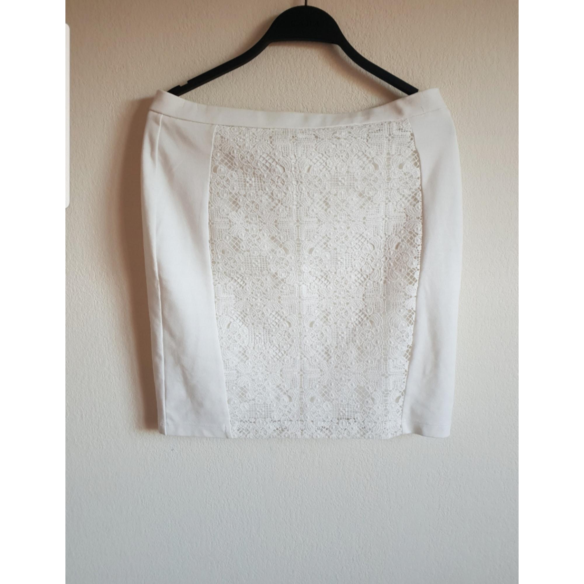 Jupe courte JESSICA Blanc, blanc cassé, écru