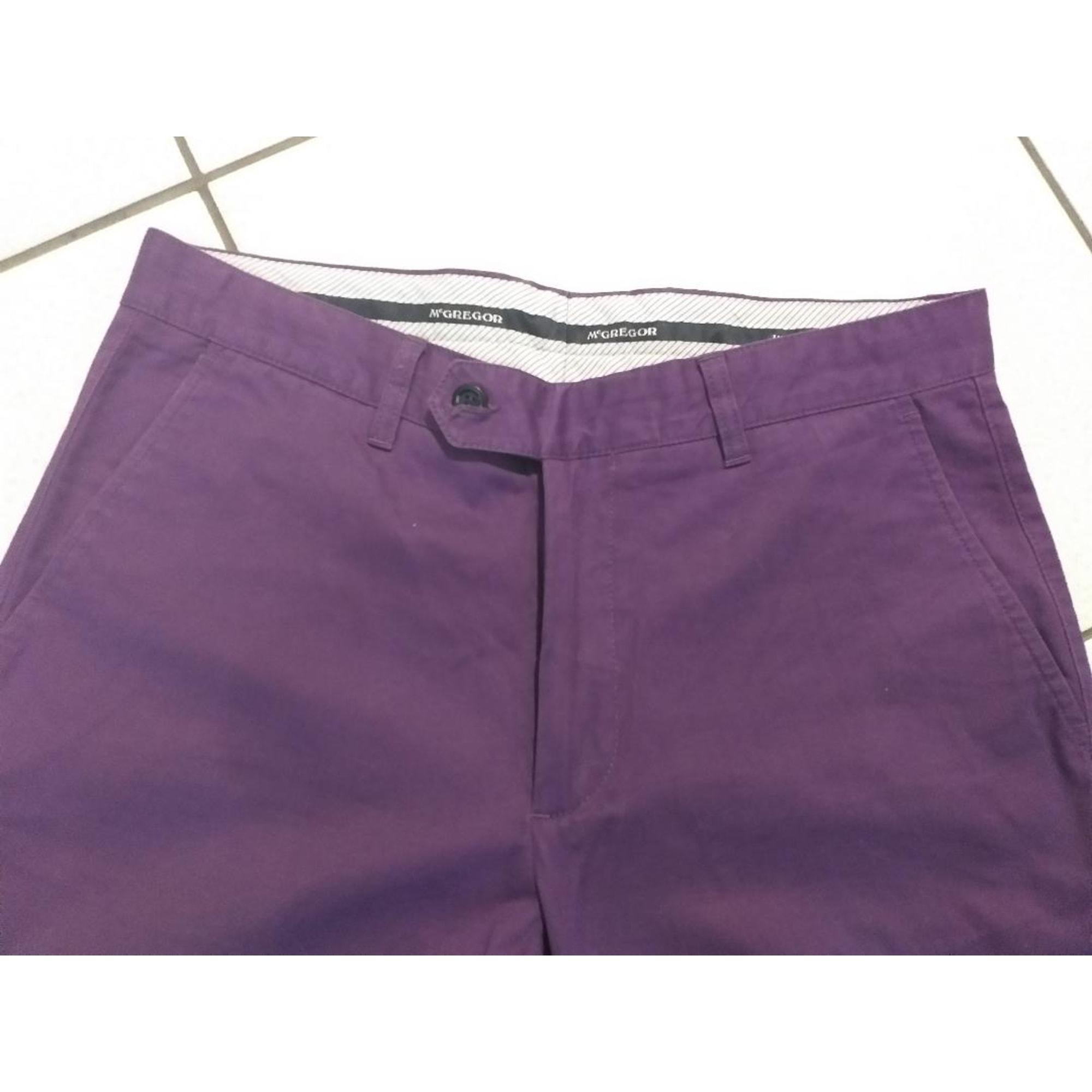 Pantalon droit MC GREGOR Violet, mauve, lavande