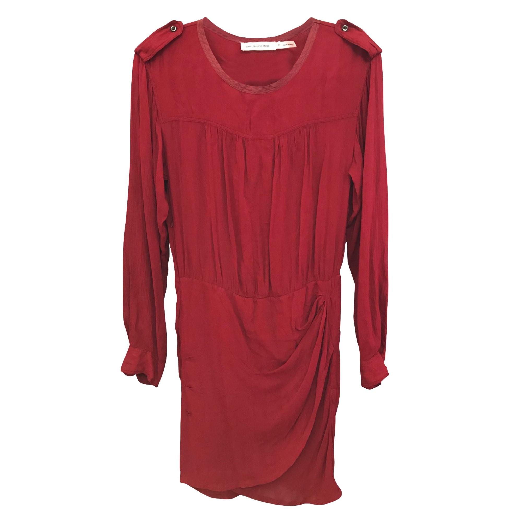 Robe courte ISABEL MARANT ETOILE Rouge, bordeaux