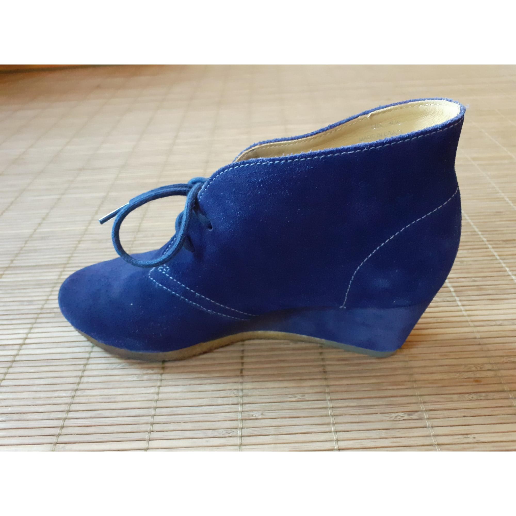 Bottines & low boots à compensés CLARKS Bleu, bleu marine, bleu turquoise