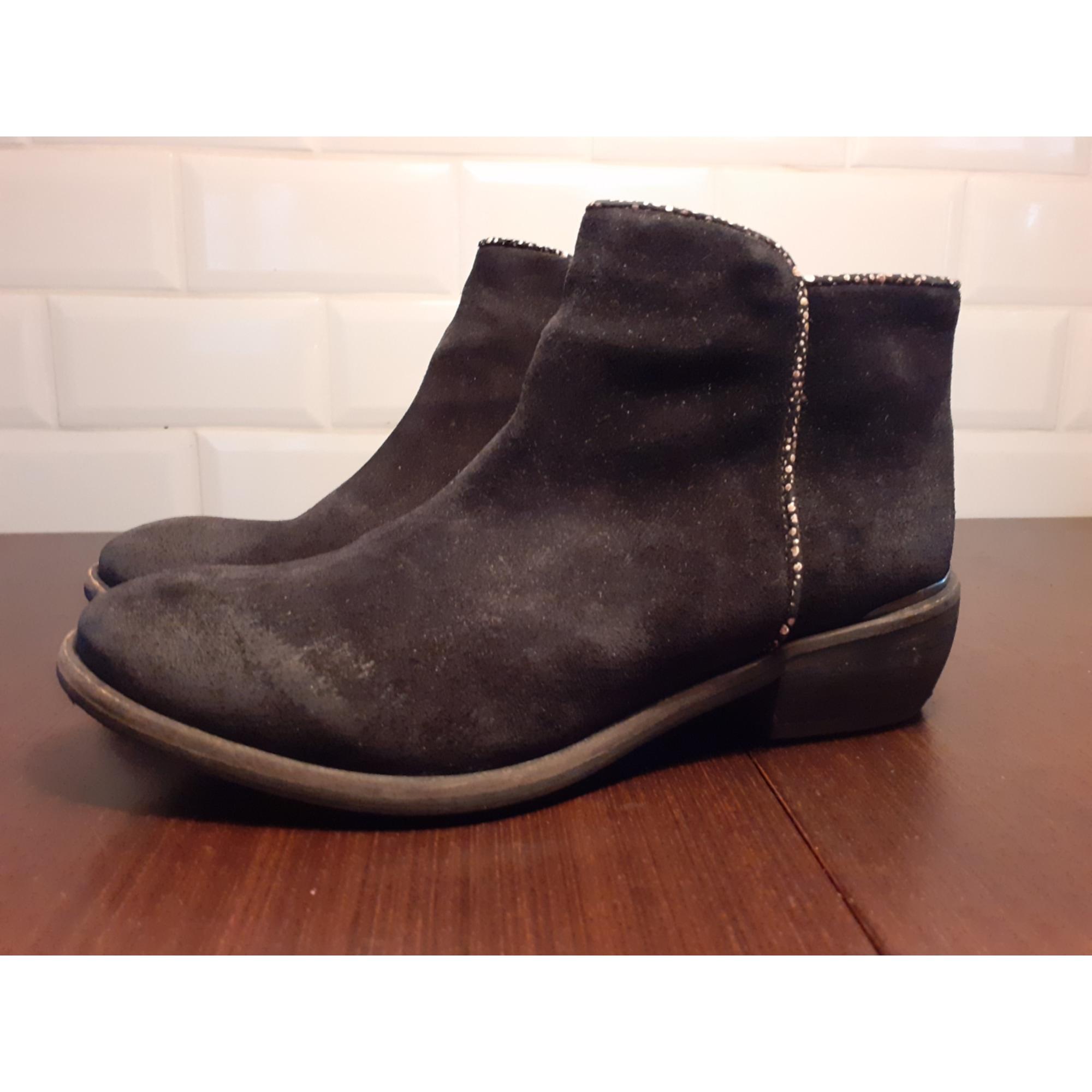 Santiags, bottines, low boots cowboy MINKA DESIGN Noir