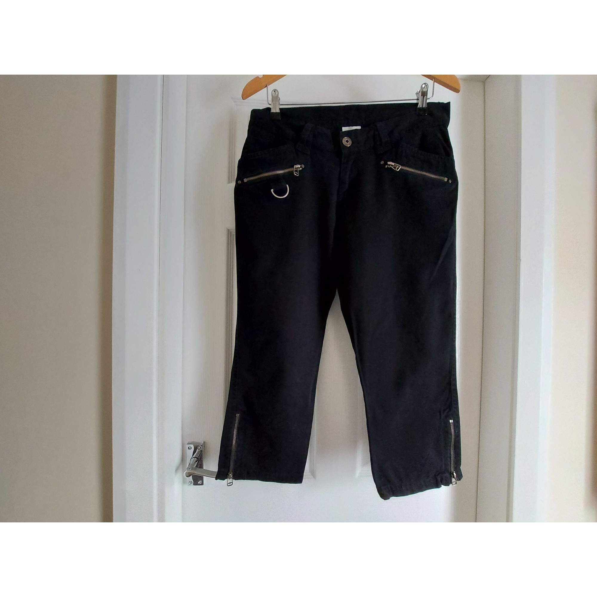 Cropped Pants, Capri Pants COLOURS OF THE WORLD Black