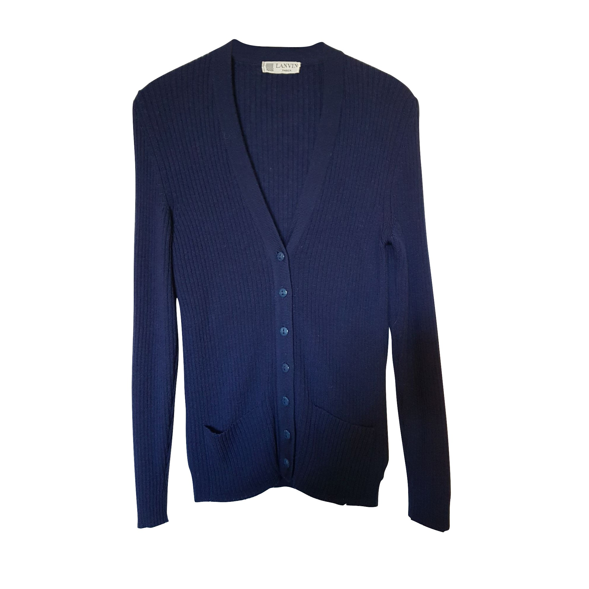 Gilet, cardigan LANVIN Bleu, bleu marine, bleu turquoise