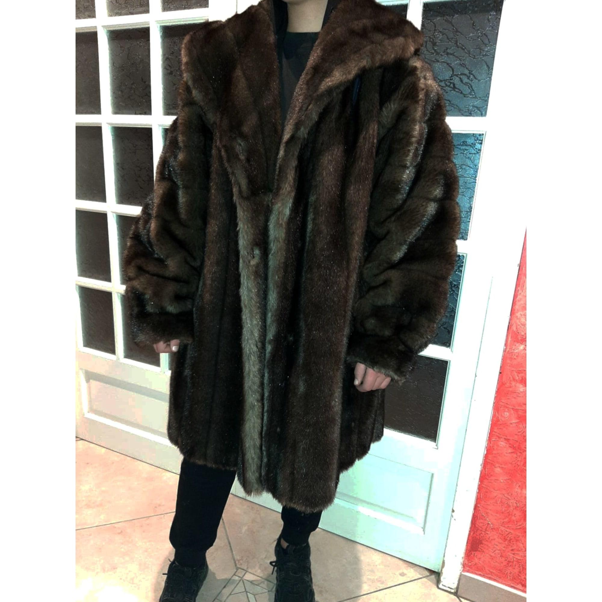 Manteau en fourrure DASCO Marron