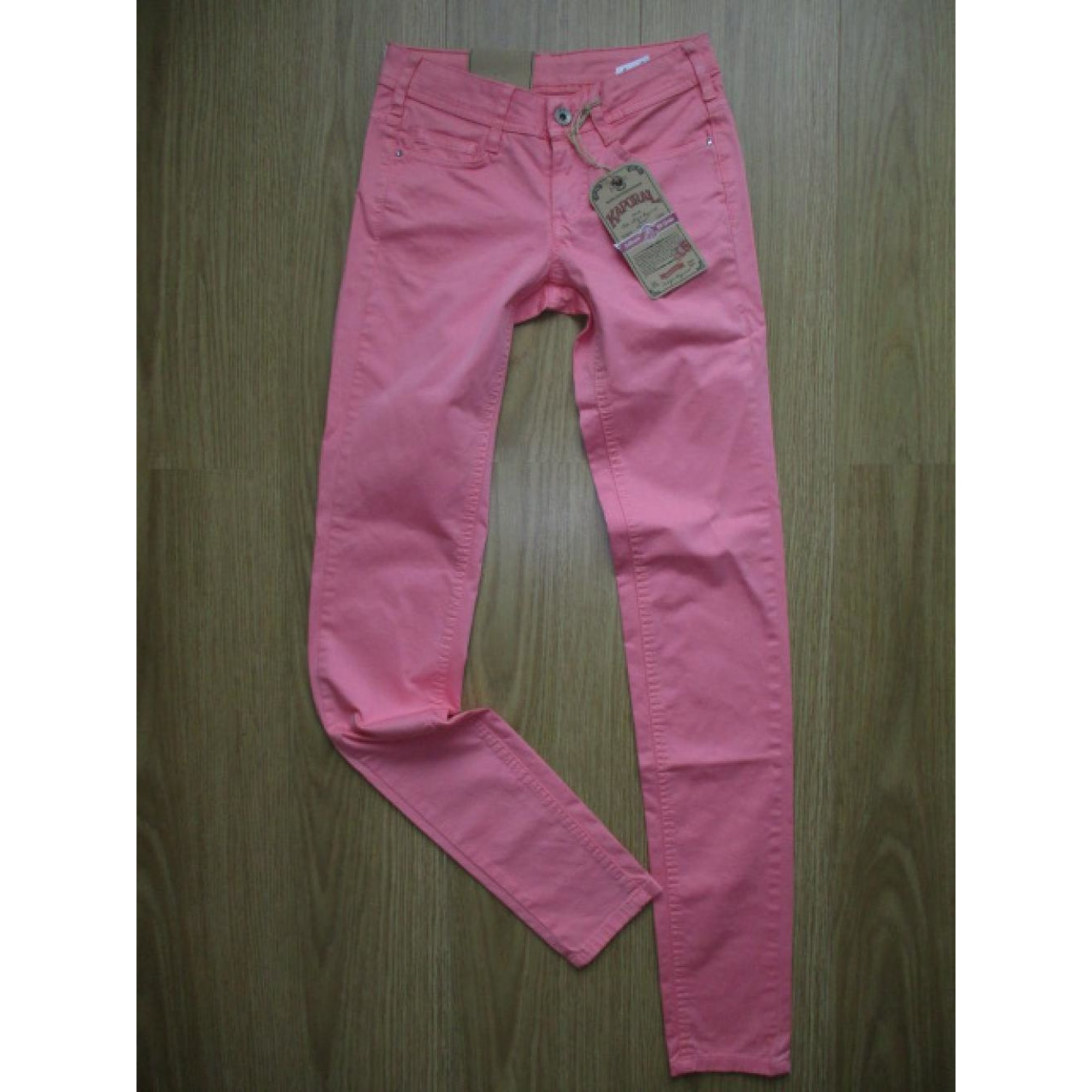 Jeans slim KAPORAL Rose, fuschia, vieux rose
