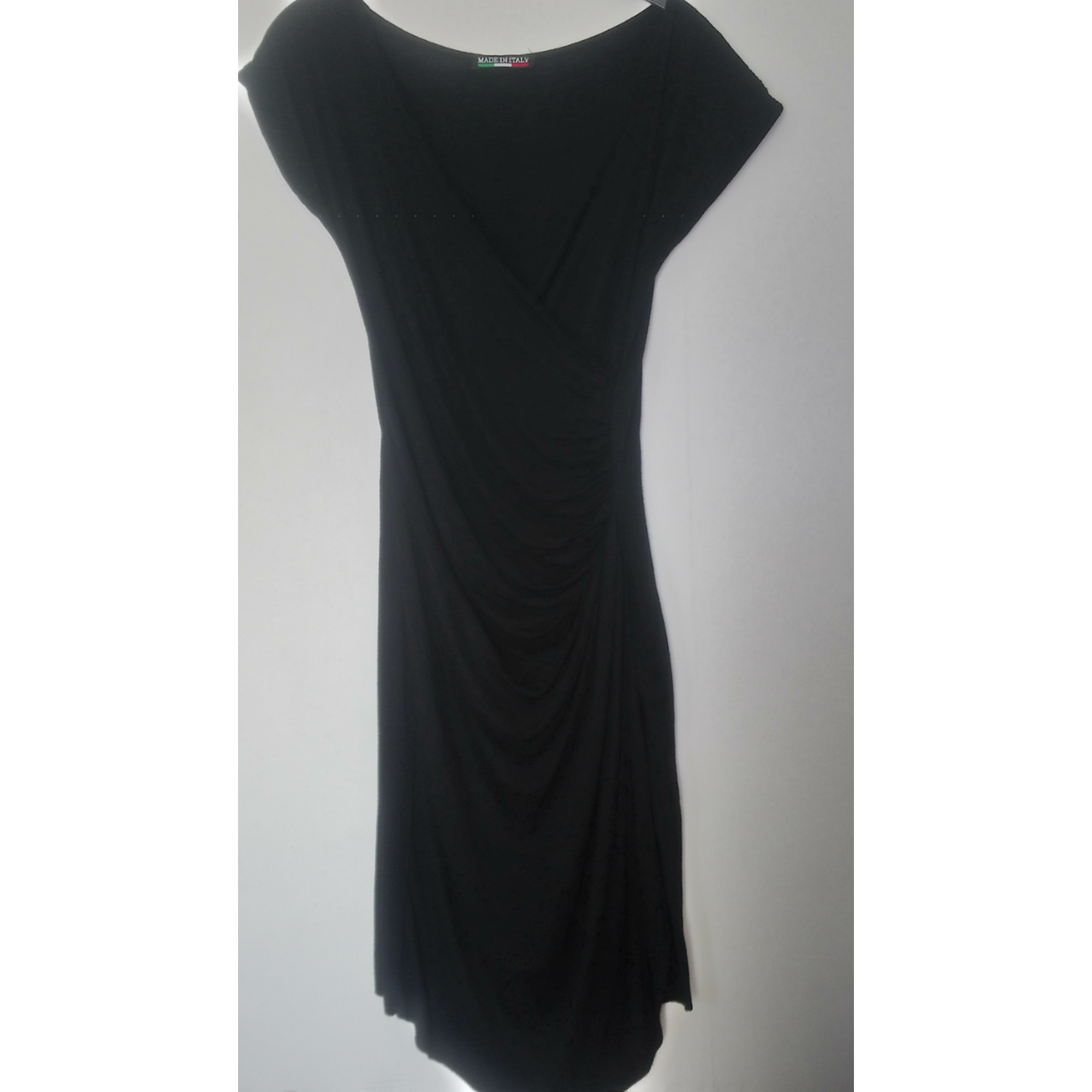 Robe mi-longue MADE IN ITALIE Noir