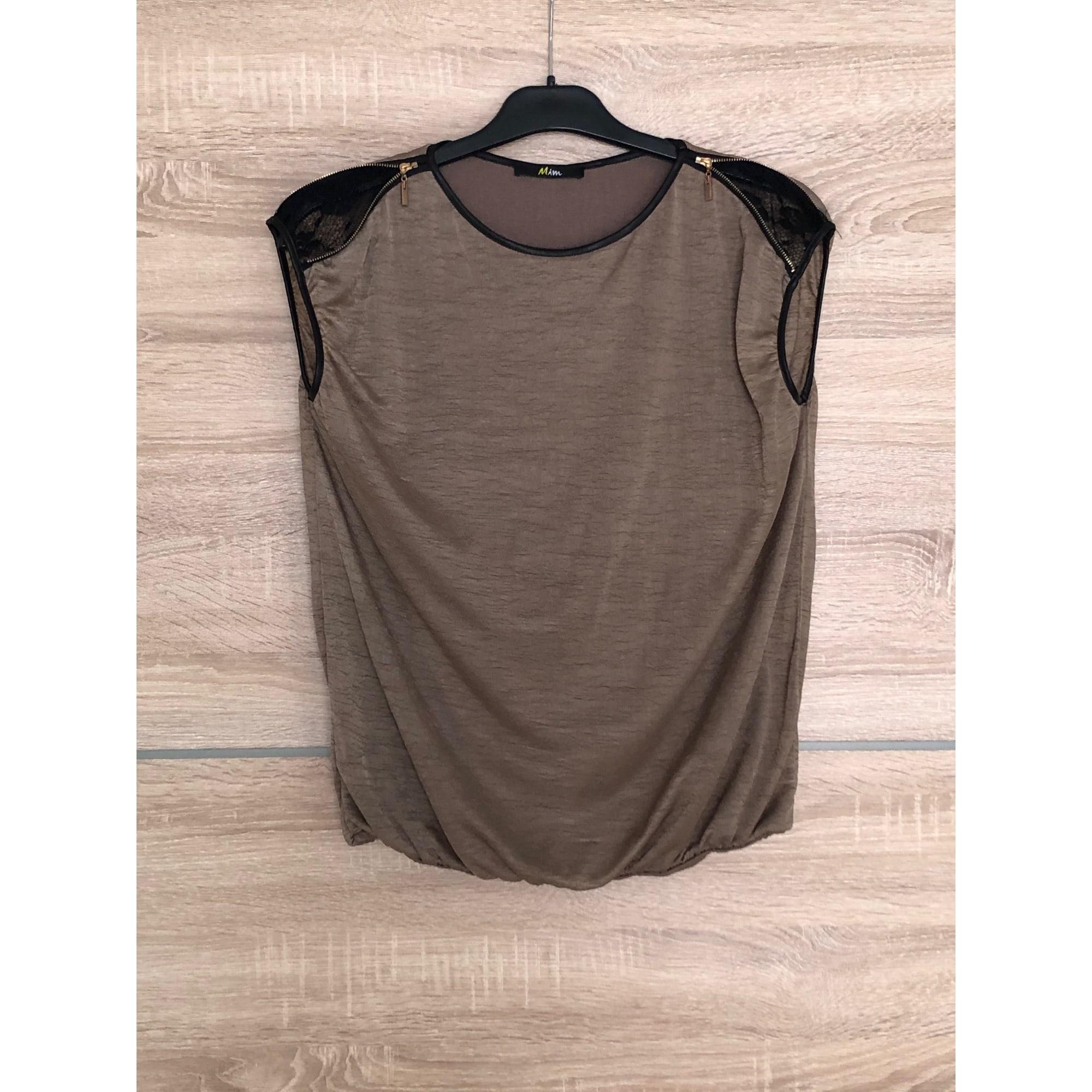 Top, tee-shirt MIM Taupe