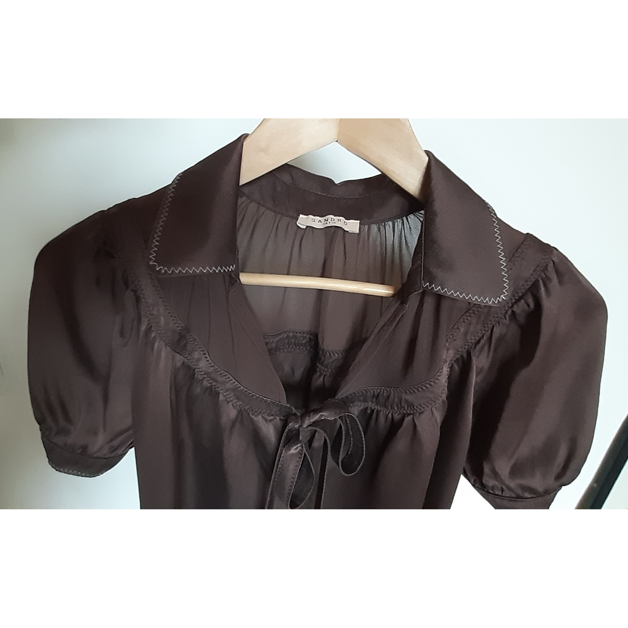 Blouse SANDRO Marron