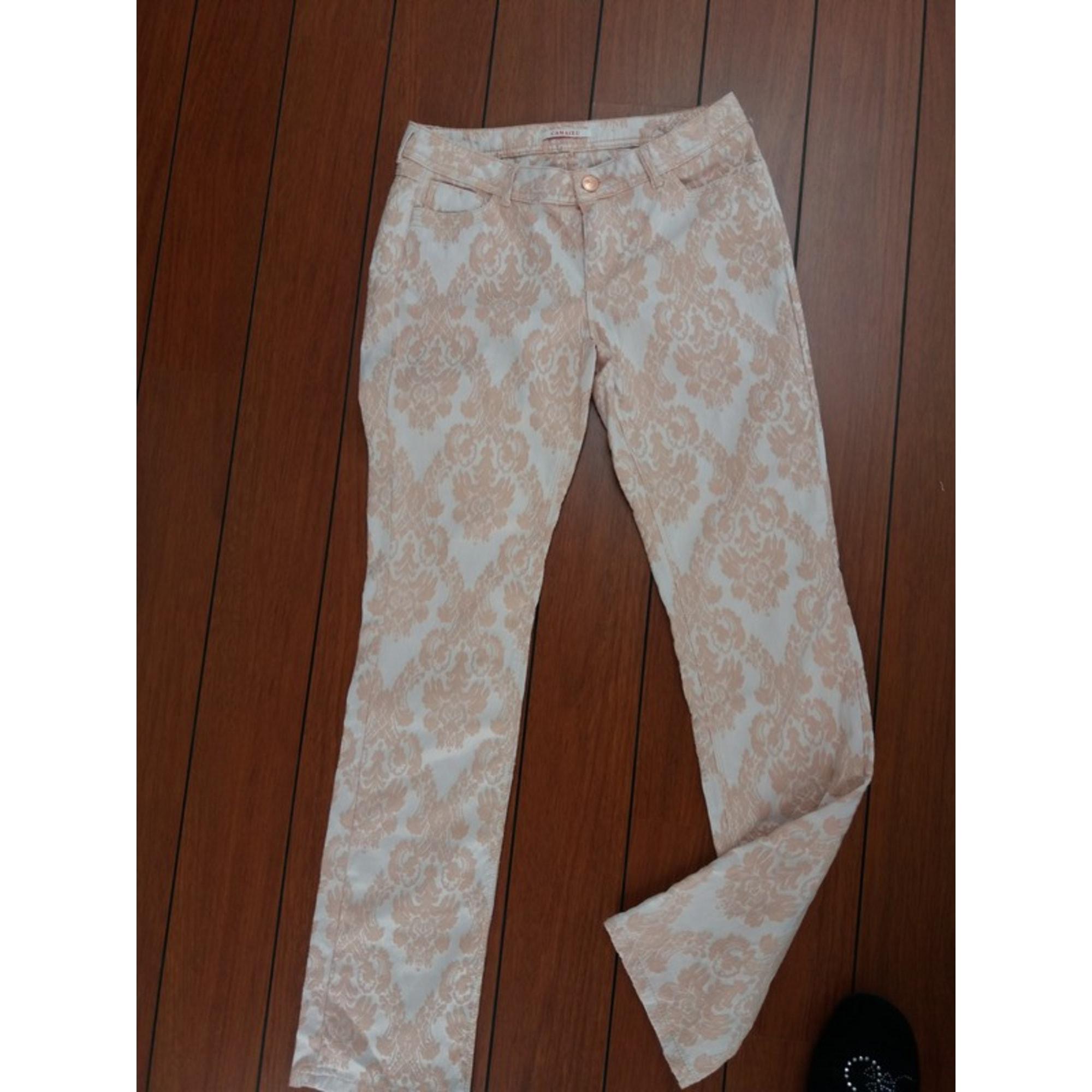 Pantalon droit CAMAIEU Orange