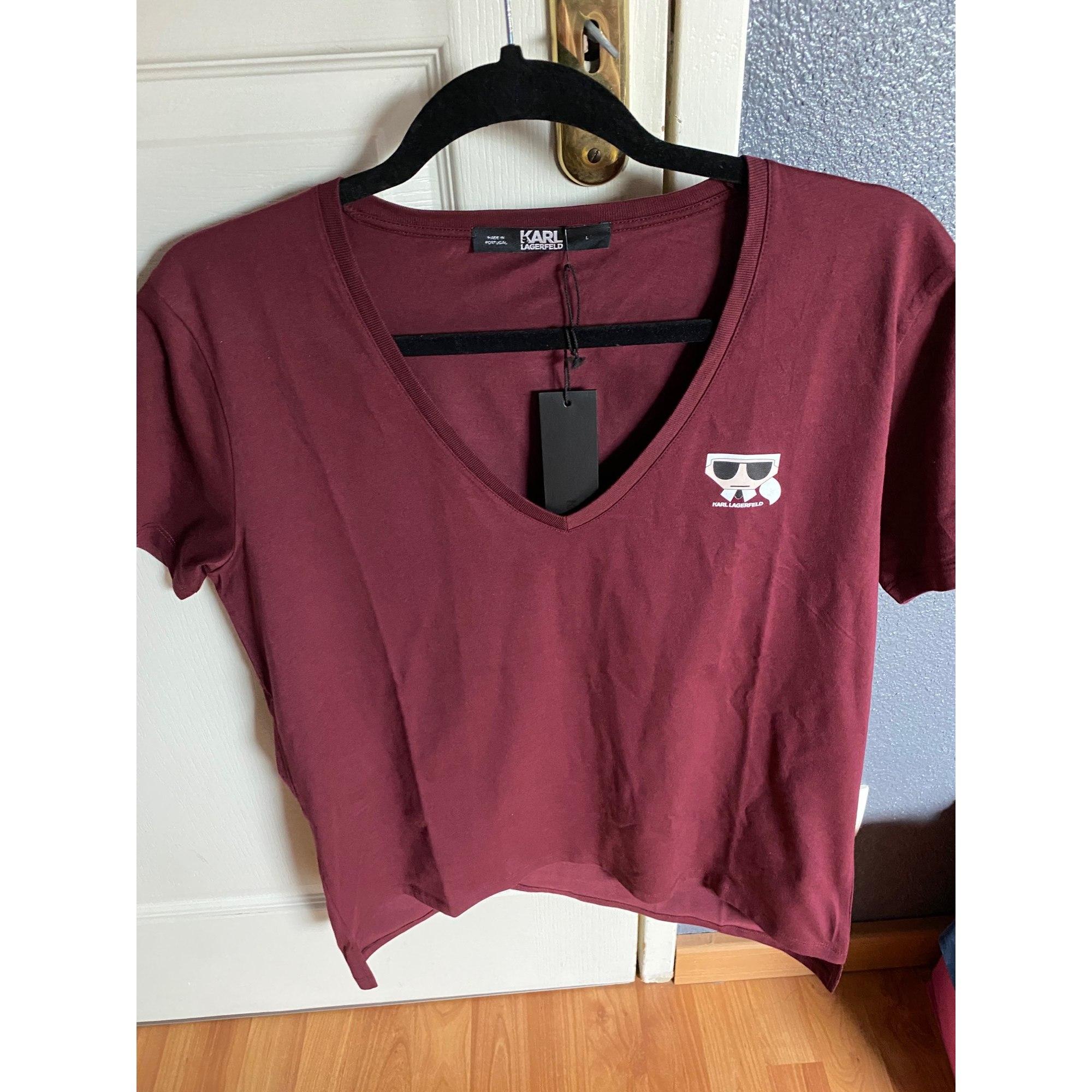Top, tee-shirt KARL LAGERFELD Rouge, bordeaux