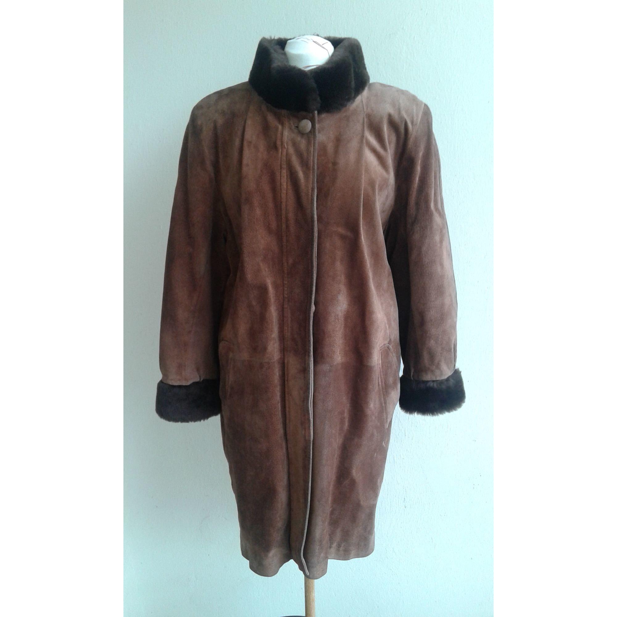 Manteau en cuir LA CANADIENNE Marron