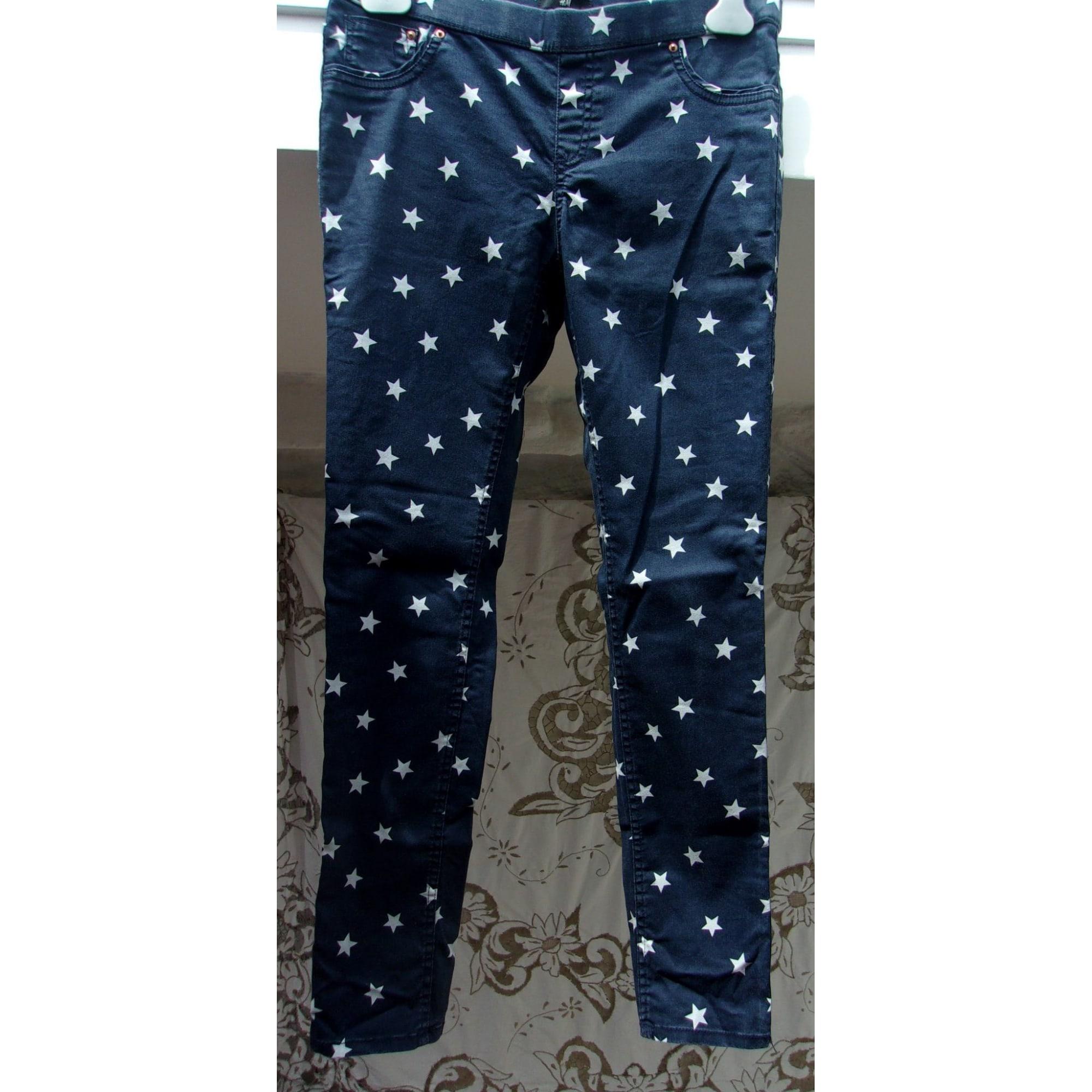 Jeans slim H&M Bleu, bleu marine, bleu turquoise