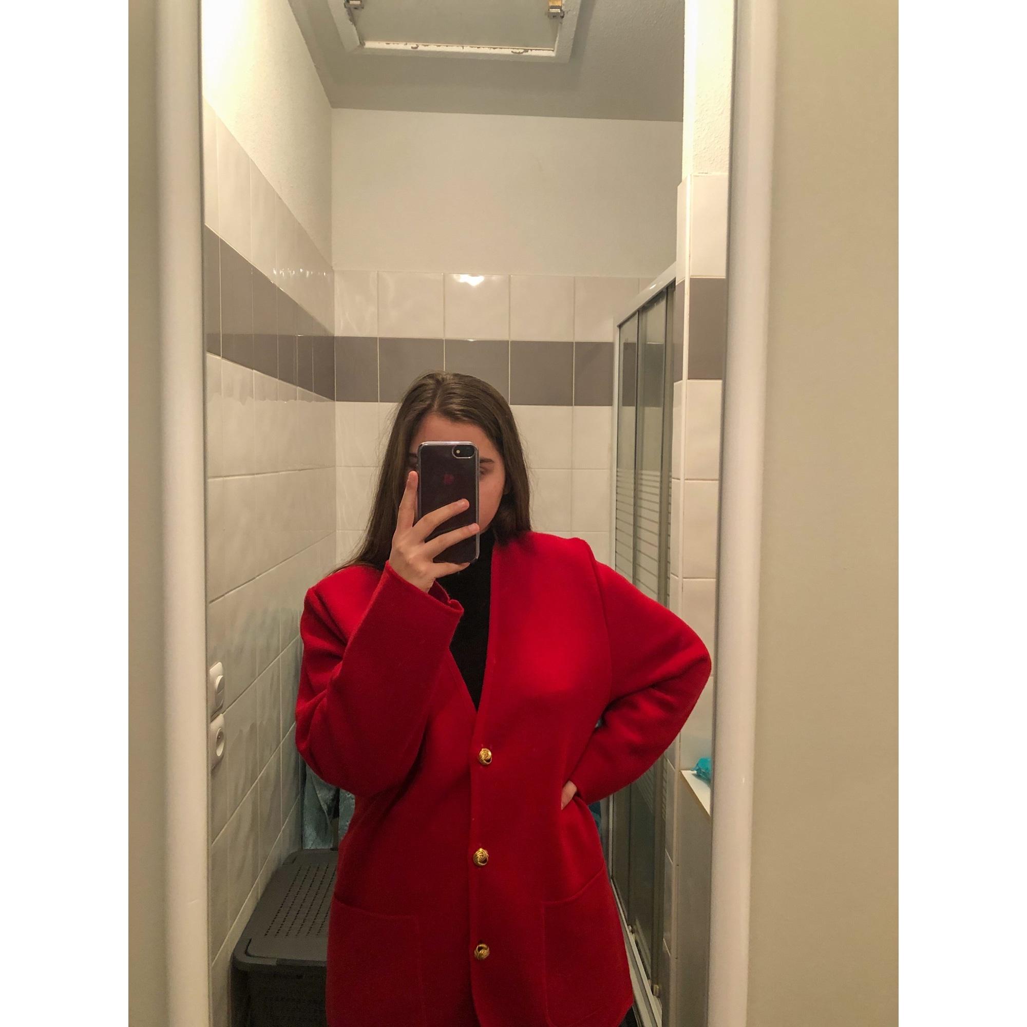 Gilet, cardigan SAINT CHARLES Rouge, bordeaux