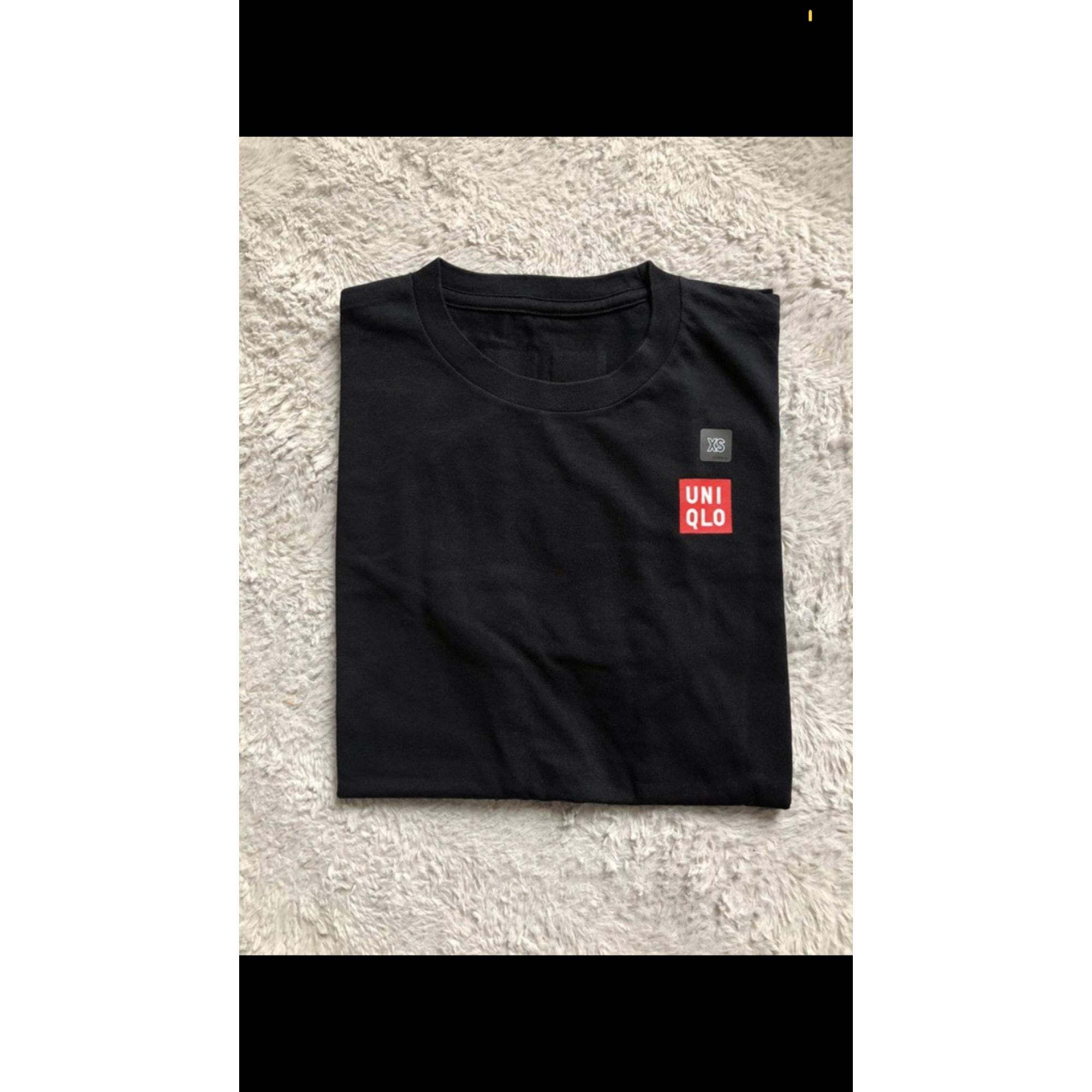 Top, tee-shirt UNIQLO Noir