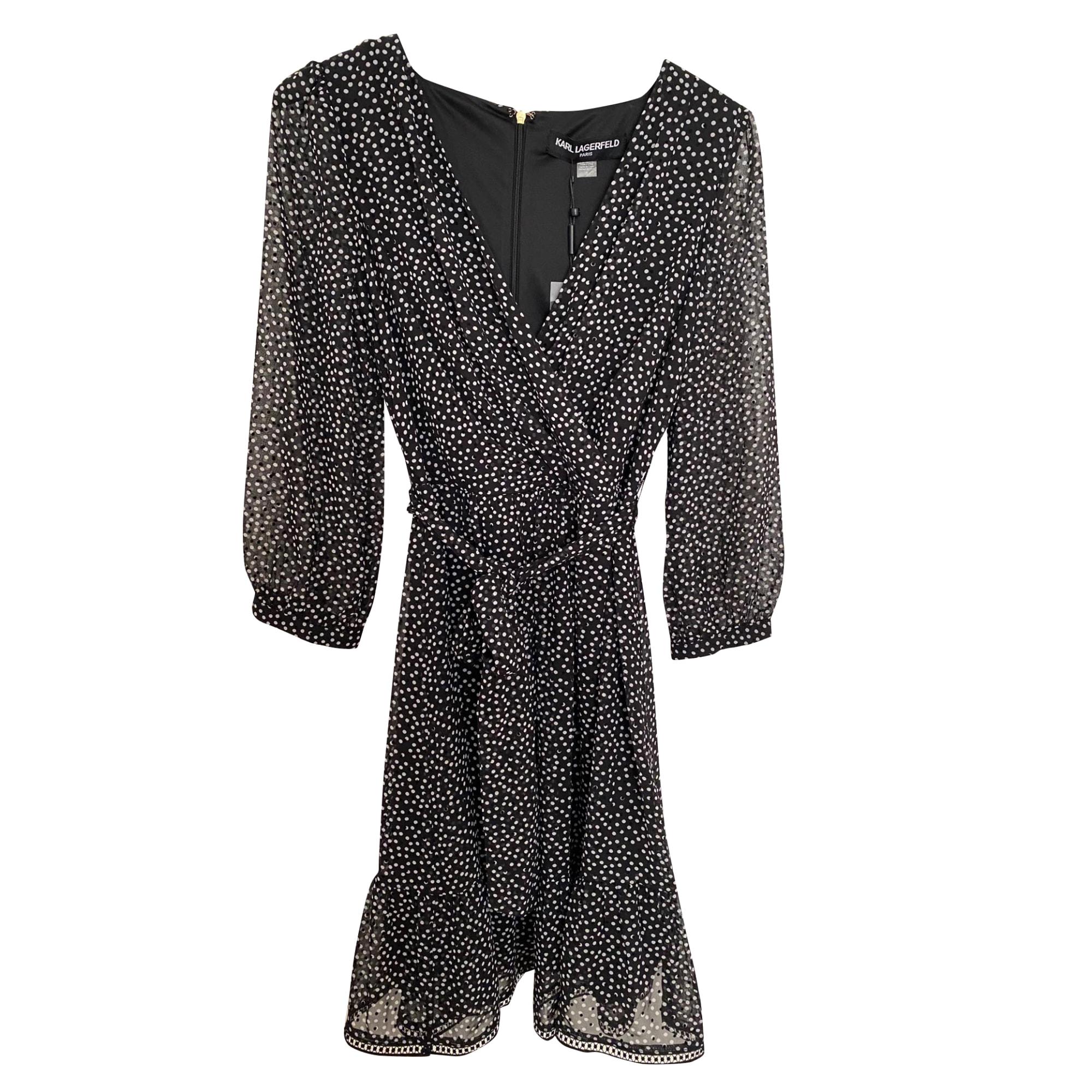 Robe courte KARL LAGERFELD Noir