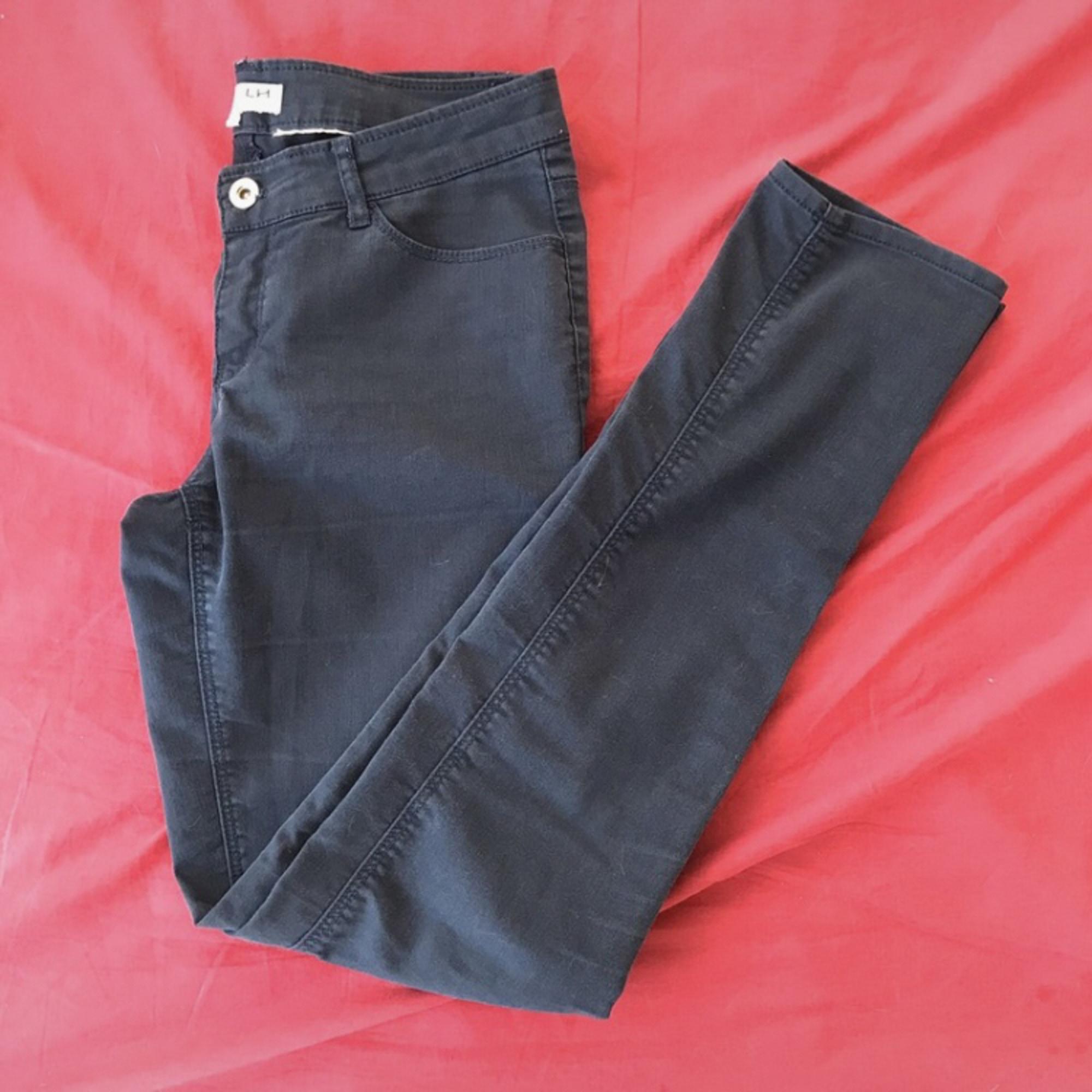 Jeans droit LA HALLE Bleu, bleu marine, bleu turquoise