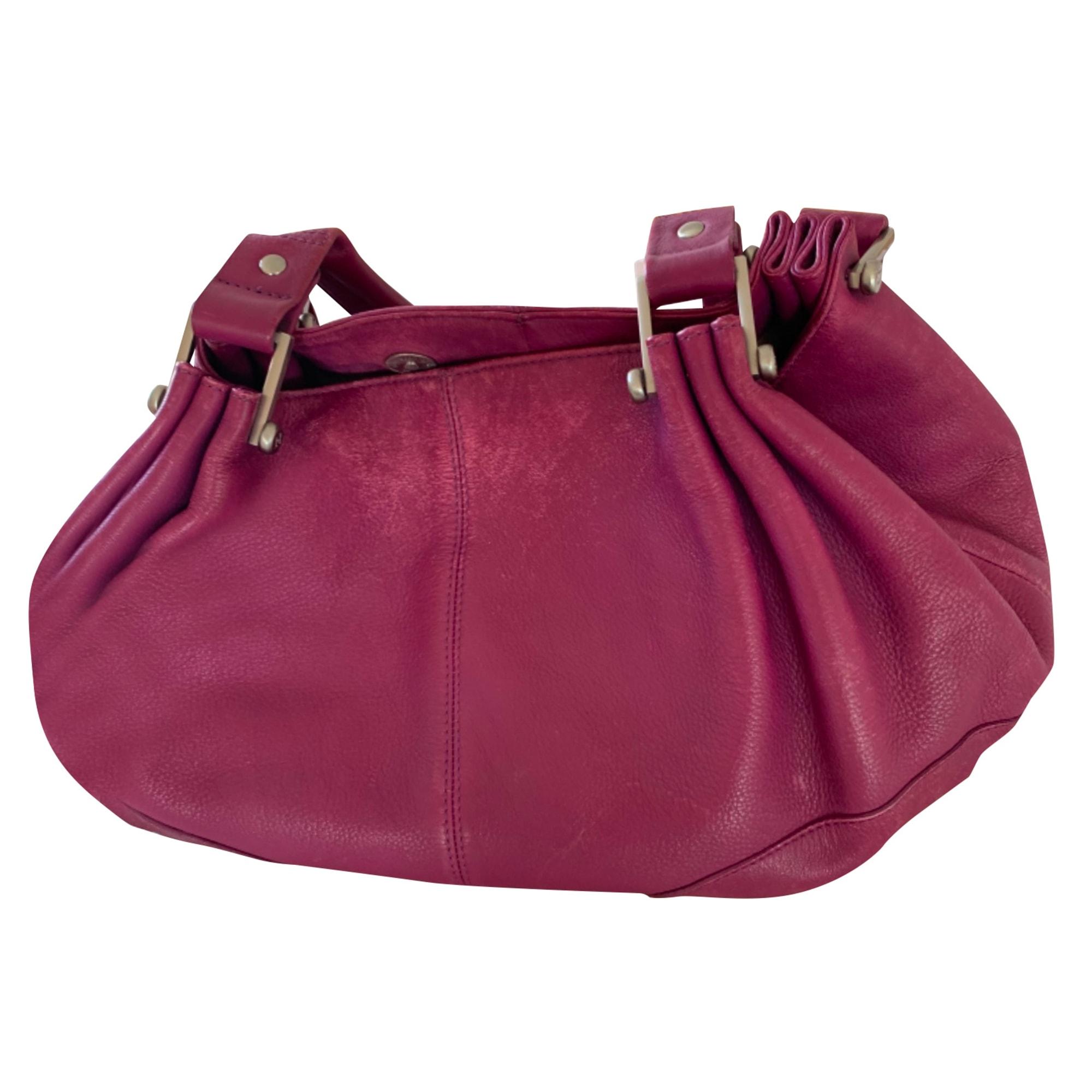 Lederhandtasche LE TANNEUR Violett, malvenfarben, lavendelfarben