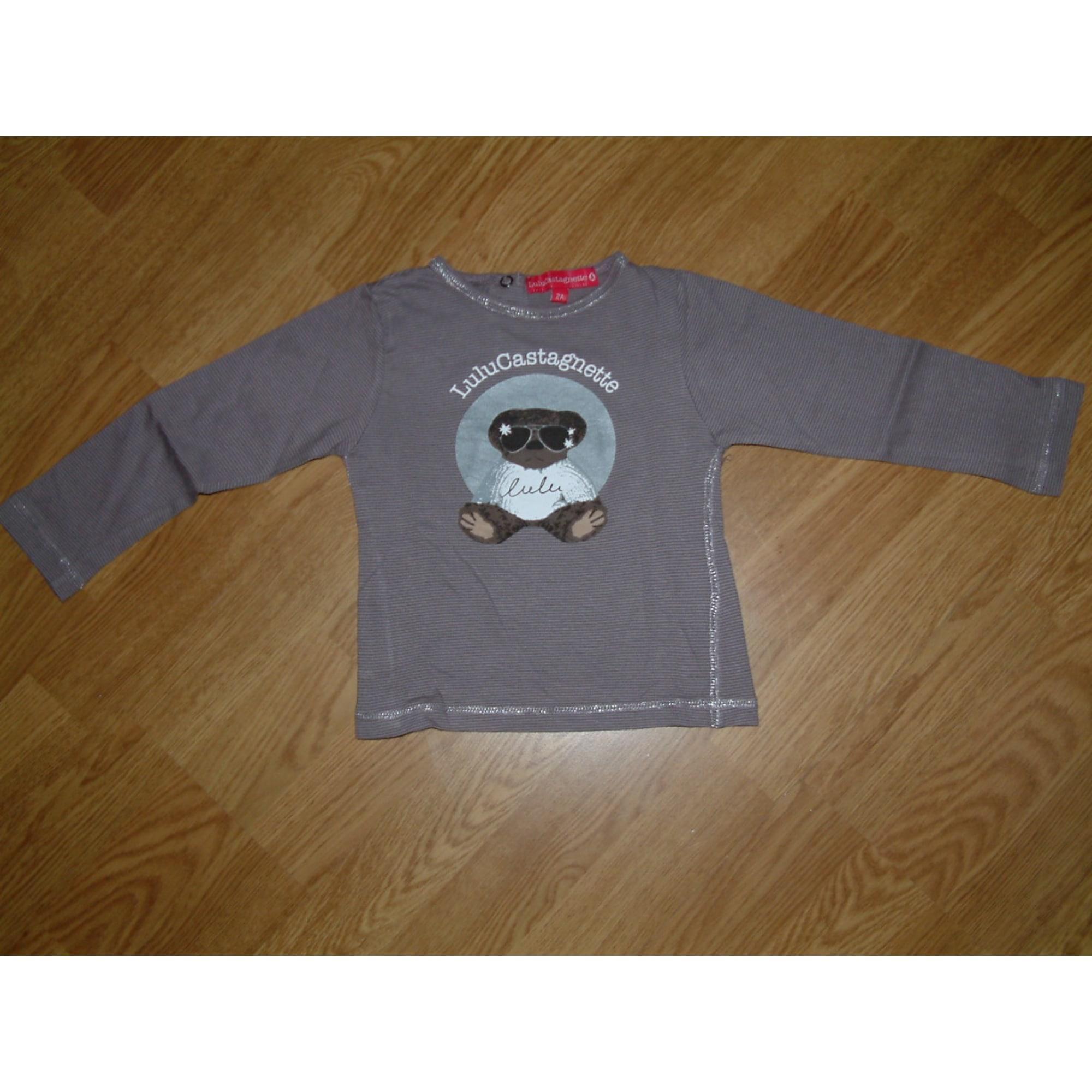 Top, Tee-shirt LULU CASTAGNETTE Violet, mauve, lavande