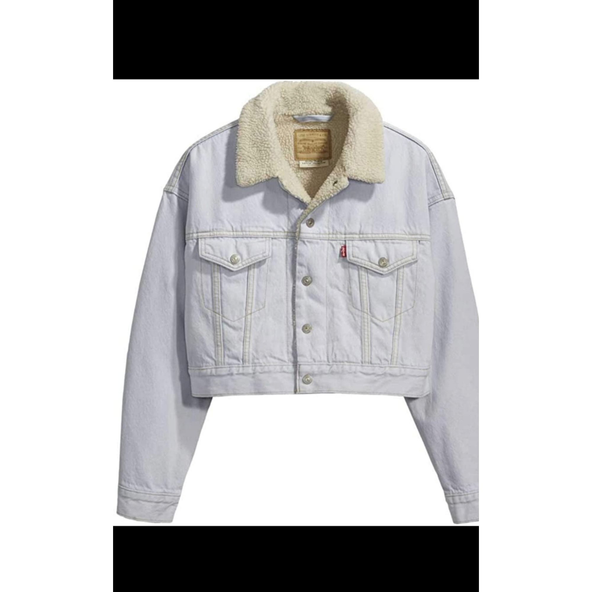 Blouson en jean LEVI'S Blanc, blanc cassé, écru