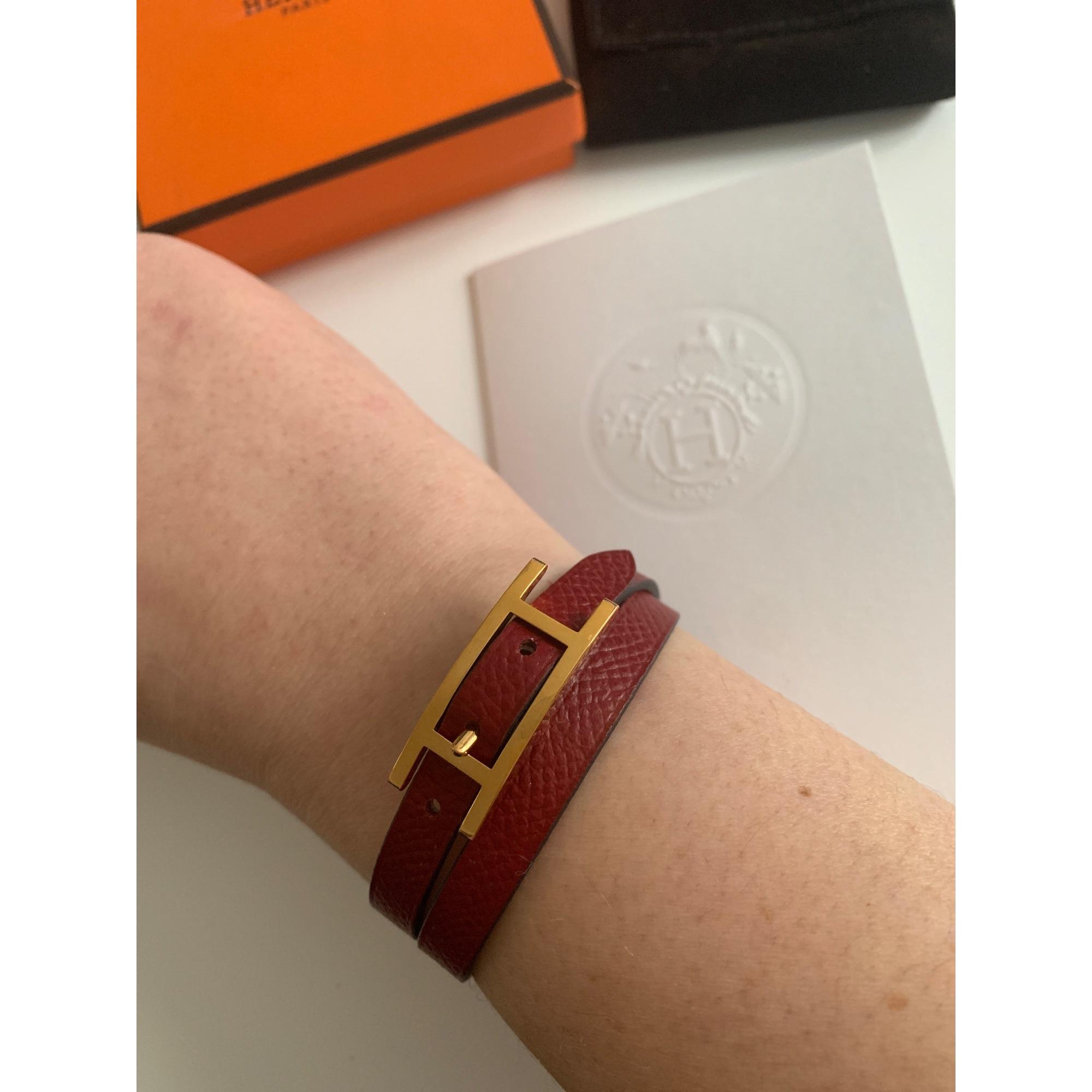 Bracelet HERMÈS Behapi Rouge, bordeaux