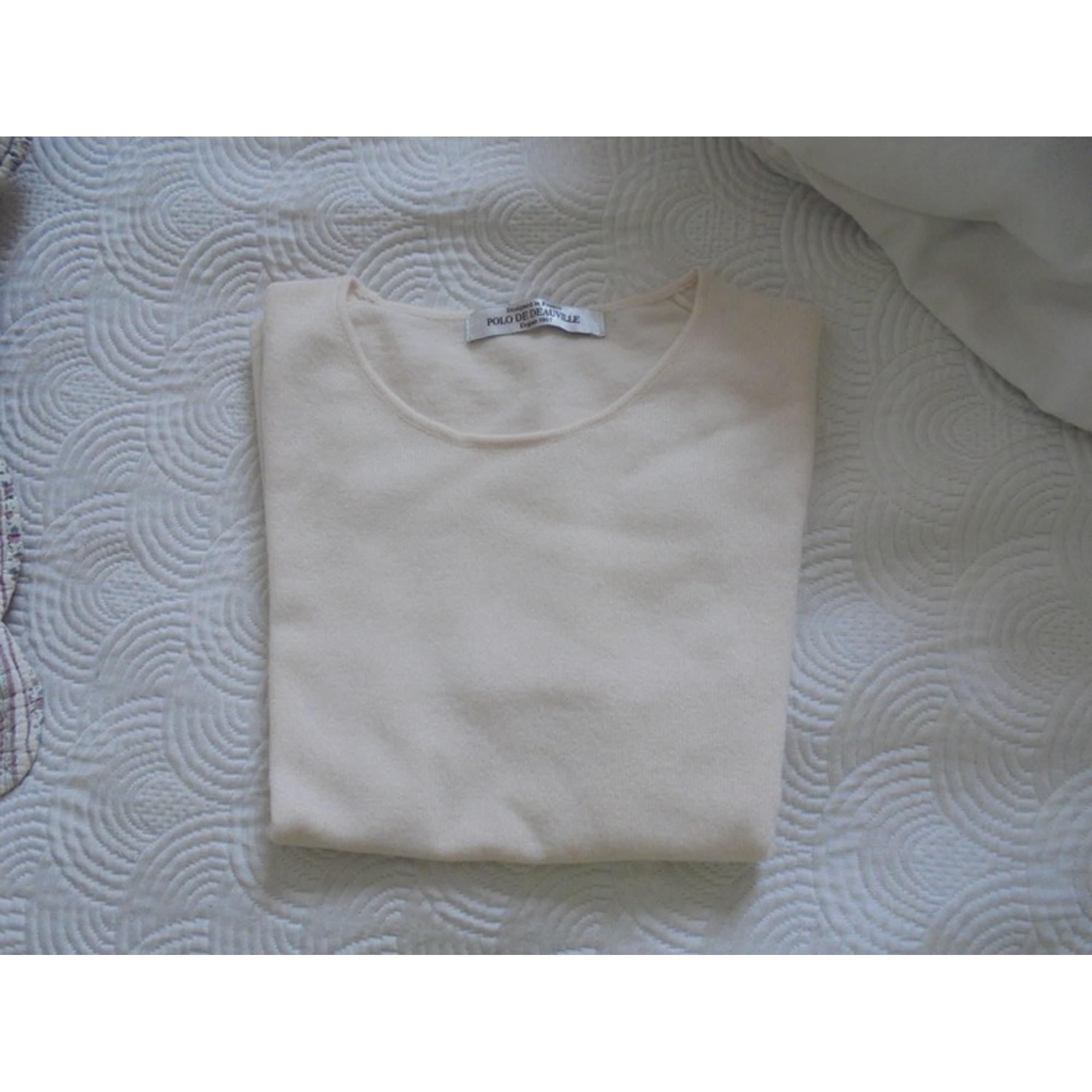 Pull POLO DE DEAUVILLE Blanc, blanc cassé, écru