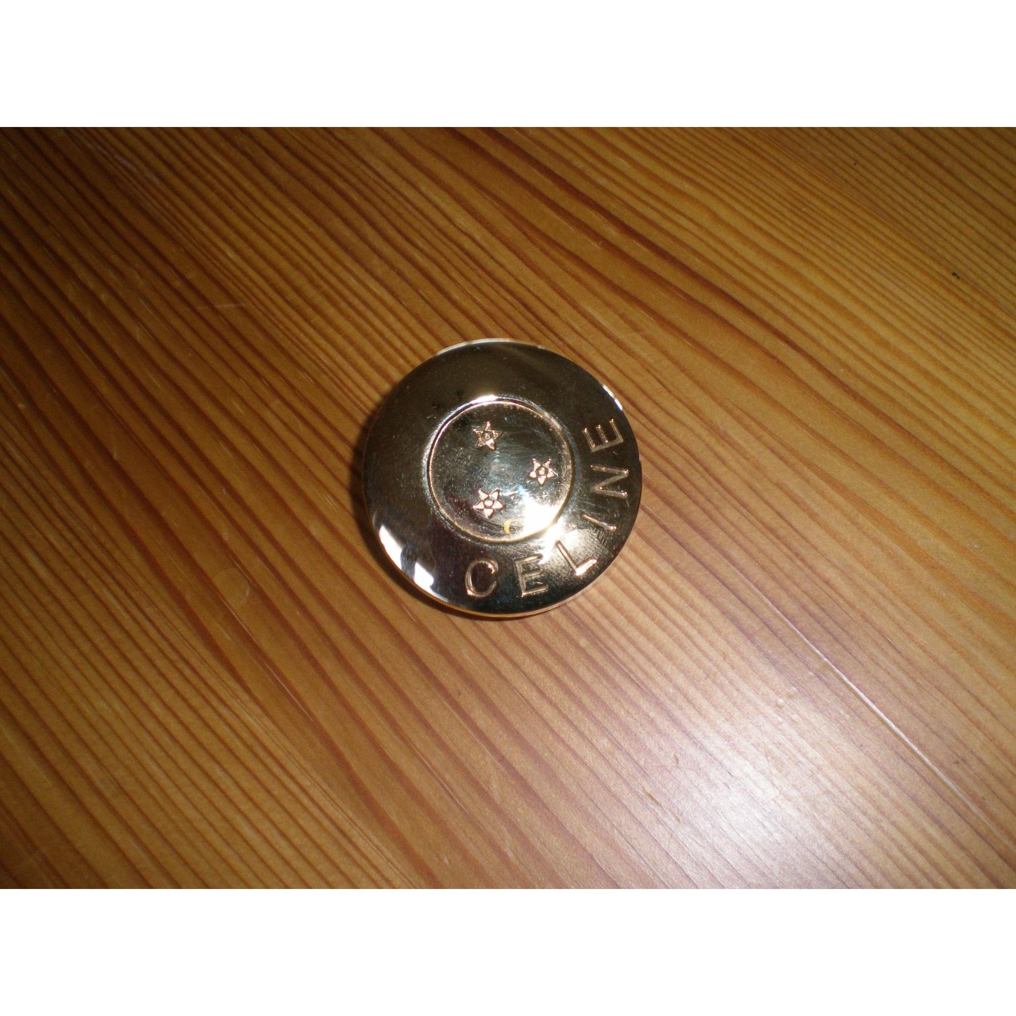Broche CÉLINE Doré, bronze, cuivre