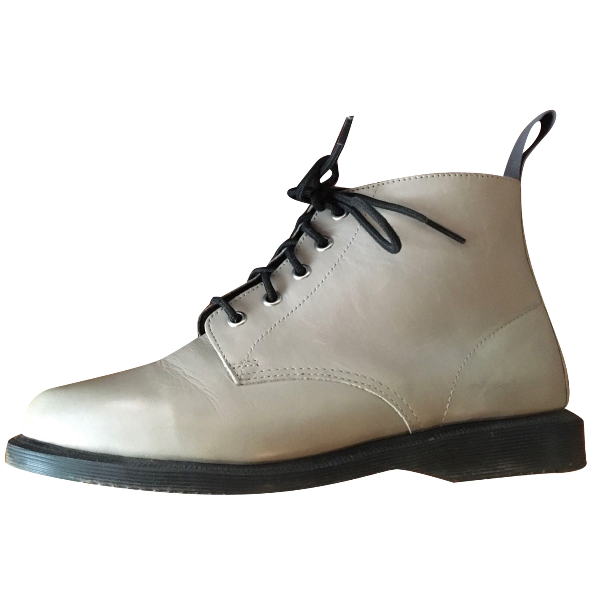 Bottines & low boots plates DR. MARTENS Beige, gris clair