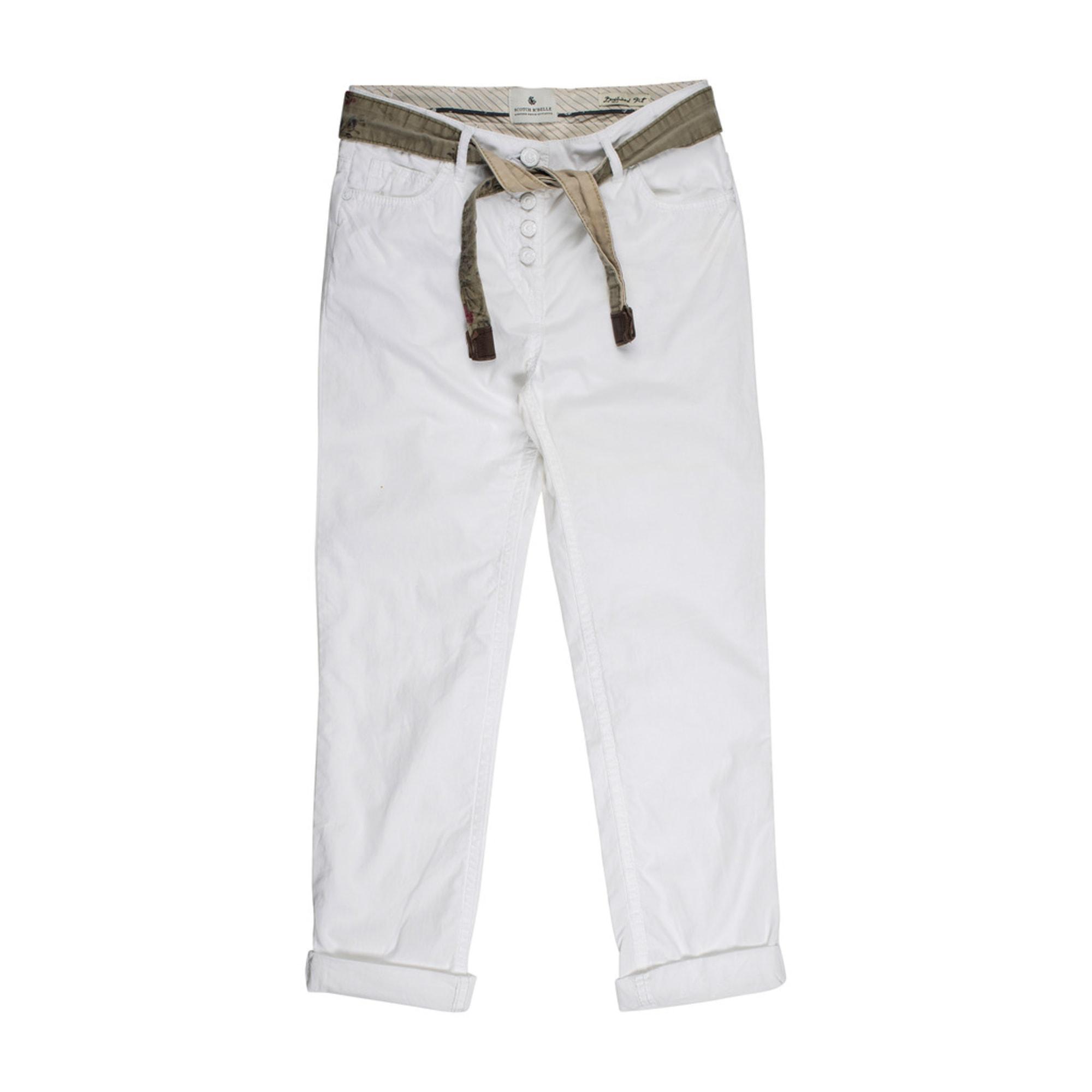 Pantalon SCOTCH & SODA Blanc, blanc cassé, écru