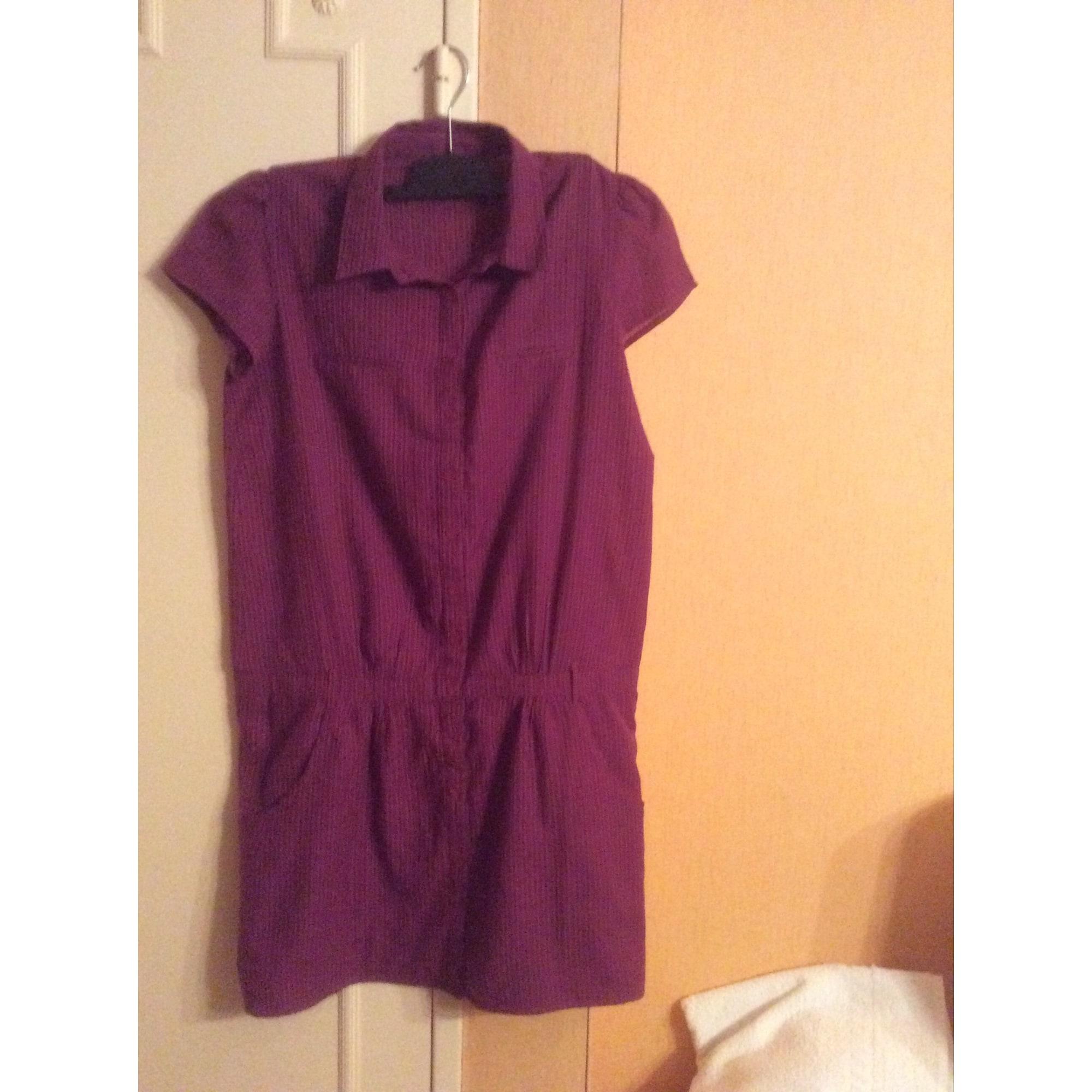 Robe mi-longue BA&SH Violet, mauve, lavande