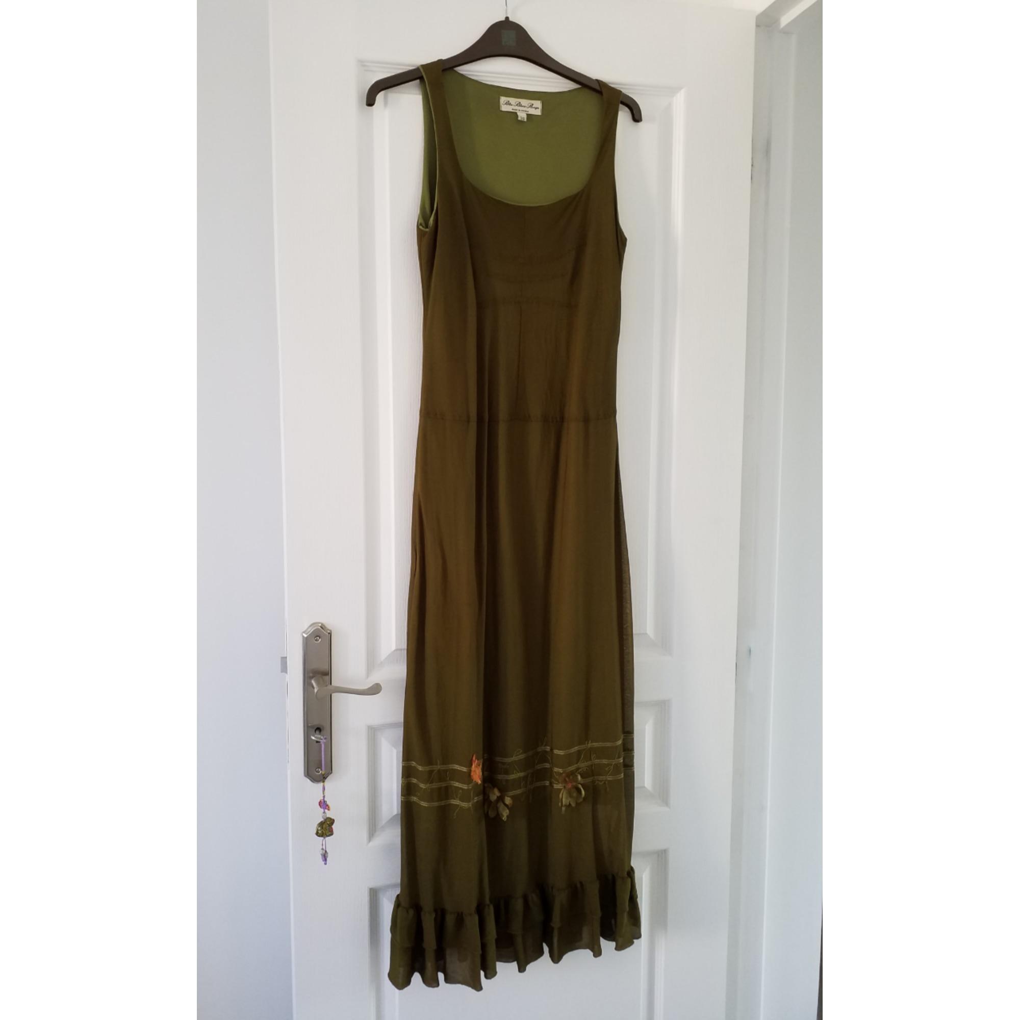 Robe longue BLEU BLANC ROUGE Kaki