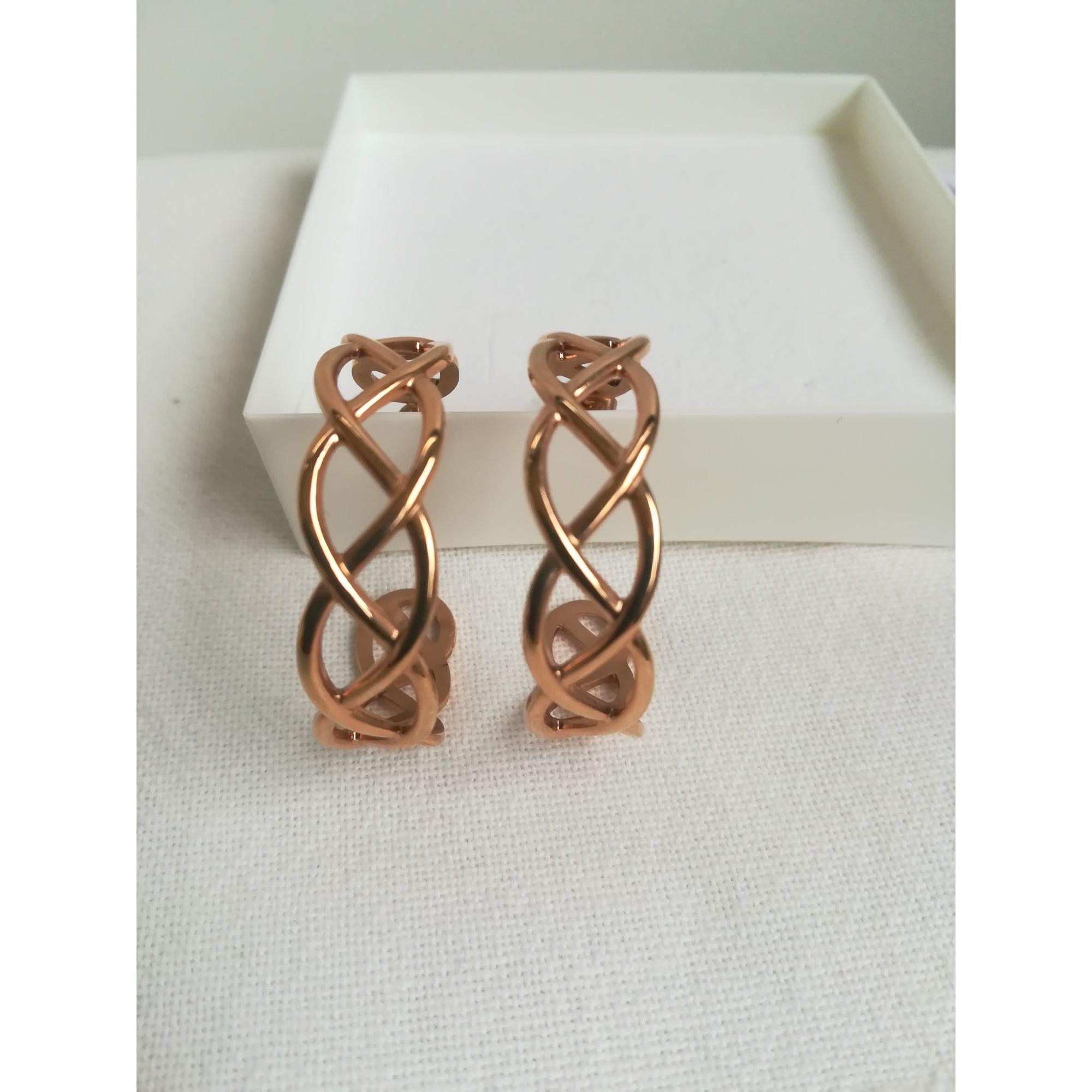 Boucles d'oreilles U COLLECTION Doré, bronze, cuivre