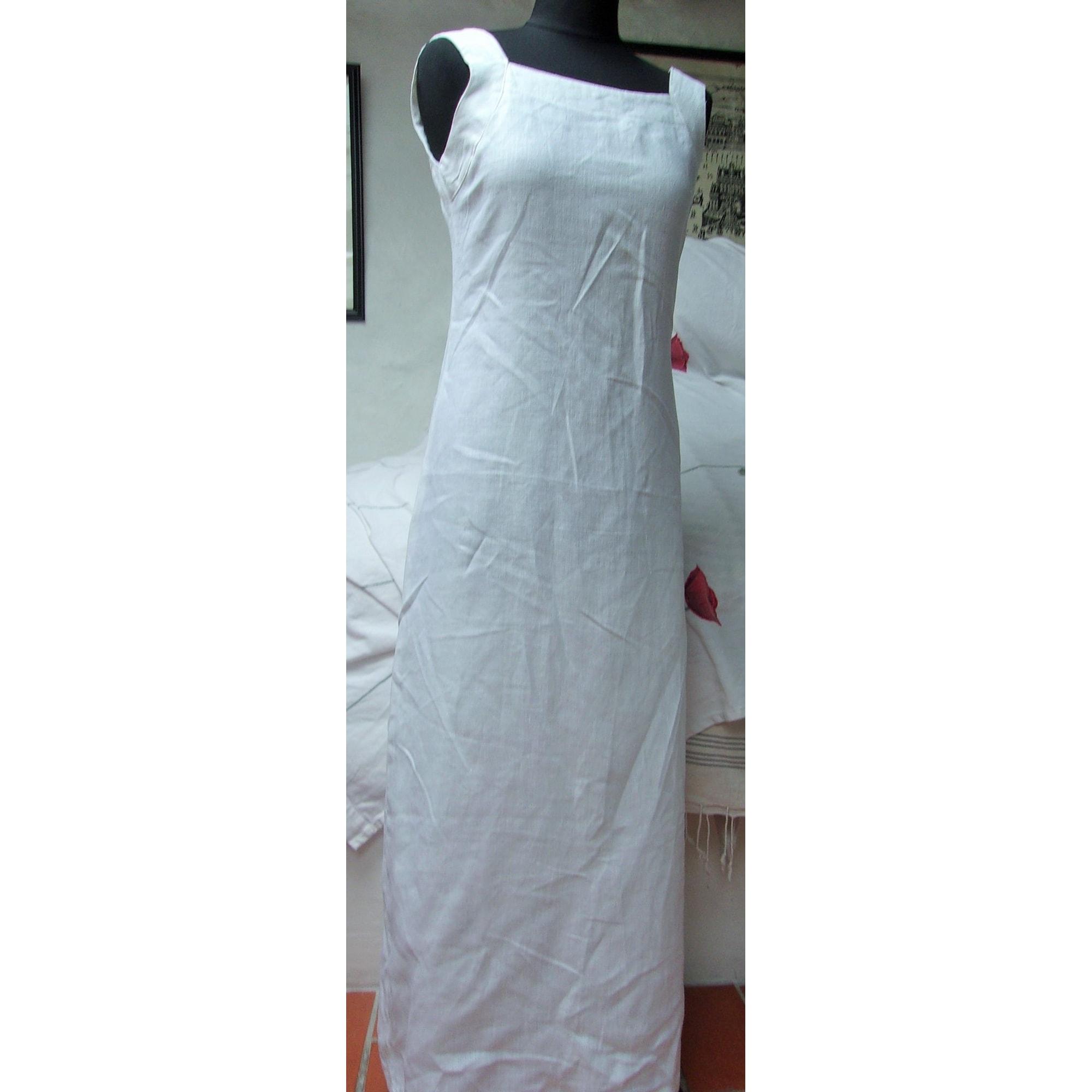 Robe longue SARAFINA Blanc, blanc cassé, écru