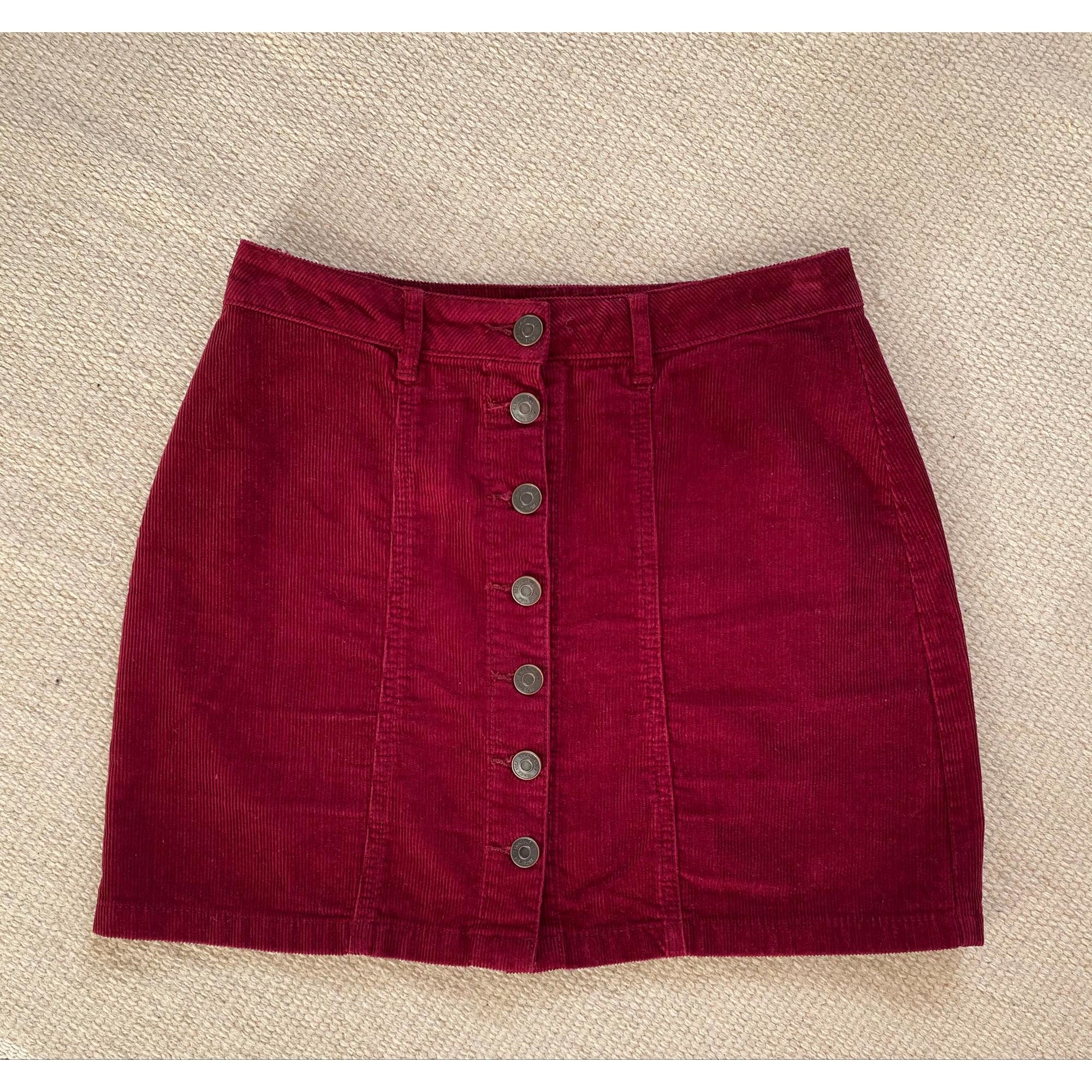 Jupe courte STRADIVARIUS Rouge, bordeaux