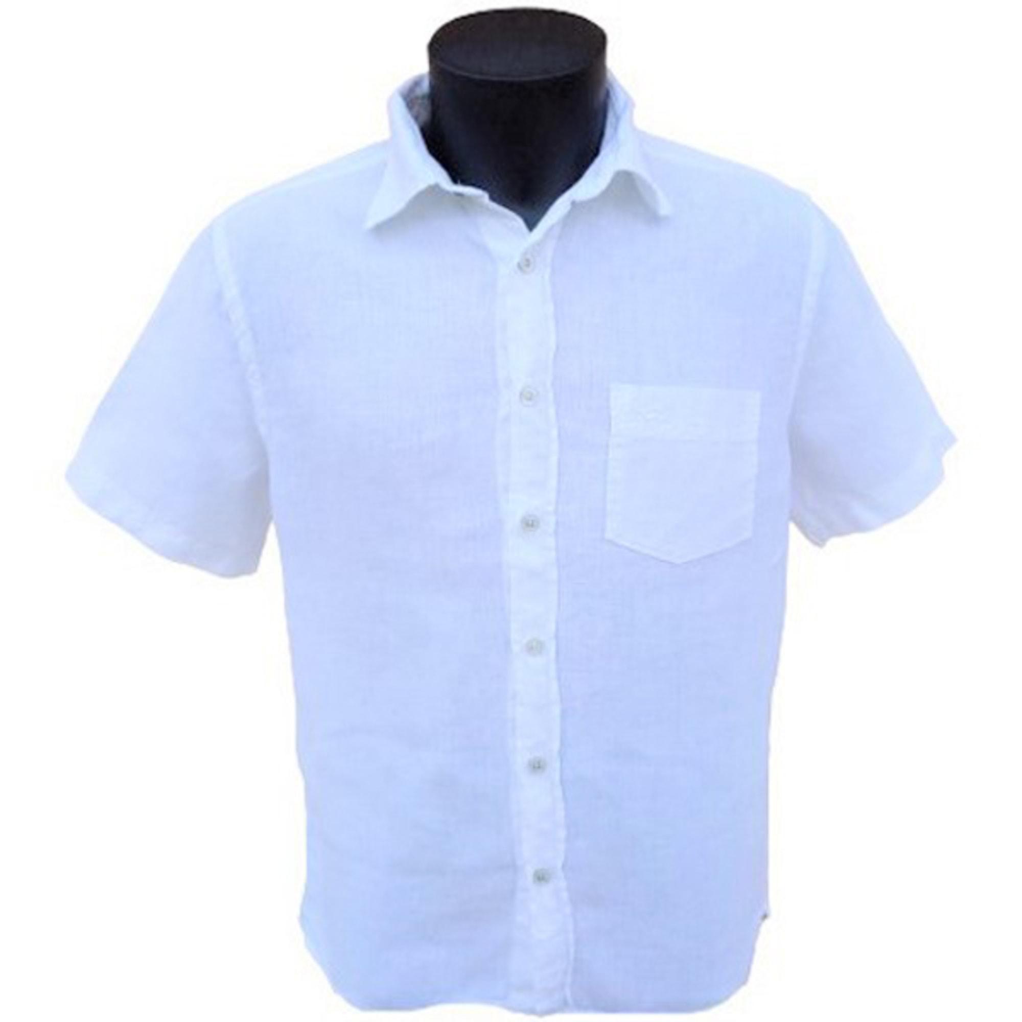 Short-sleeved Shirt DOCKERS White, off-white, ecru