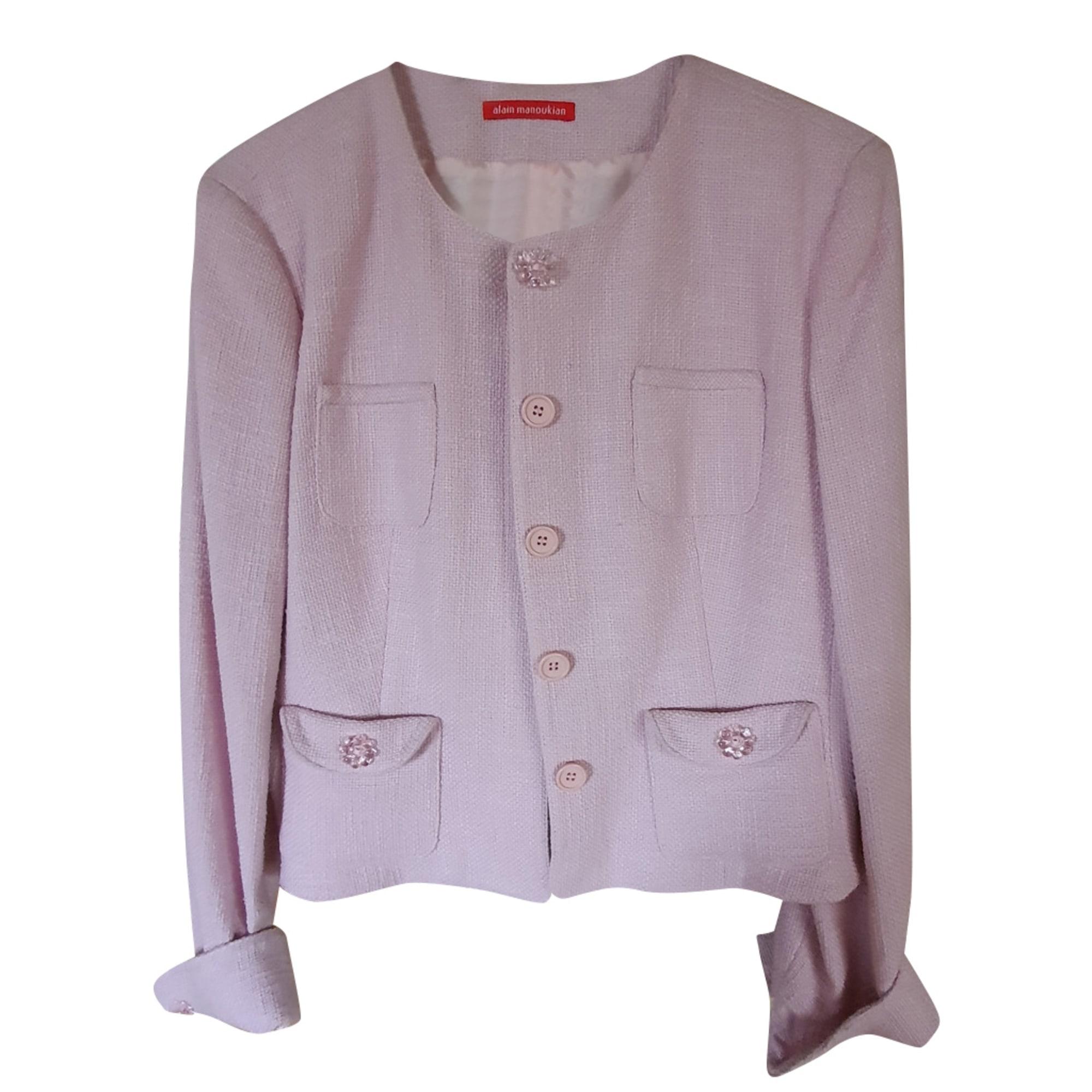 Blazer ALAIN MANOUKIAN Pink, fuchsia, light pink