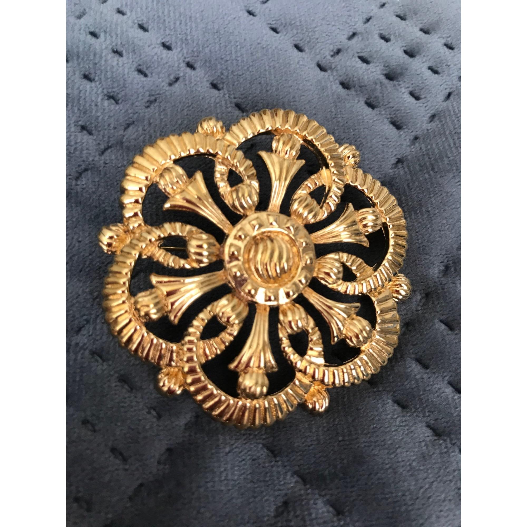 Broche NINA RICCI Doré, bronze, cuivre
