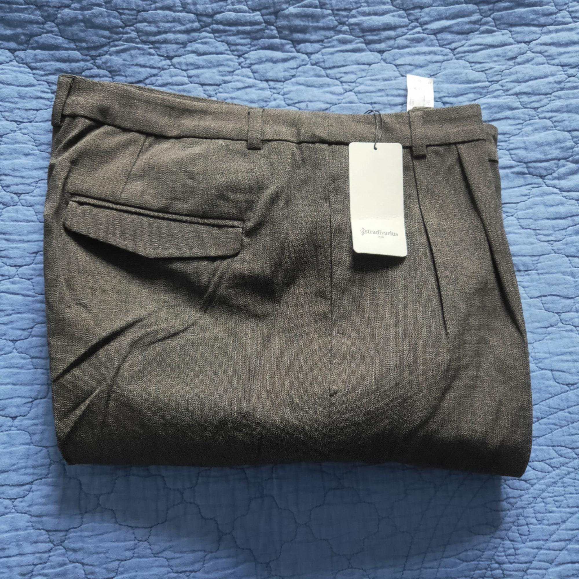 Pantalon droit STRADIVARIUS Marron