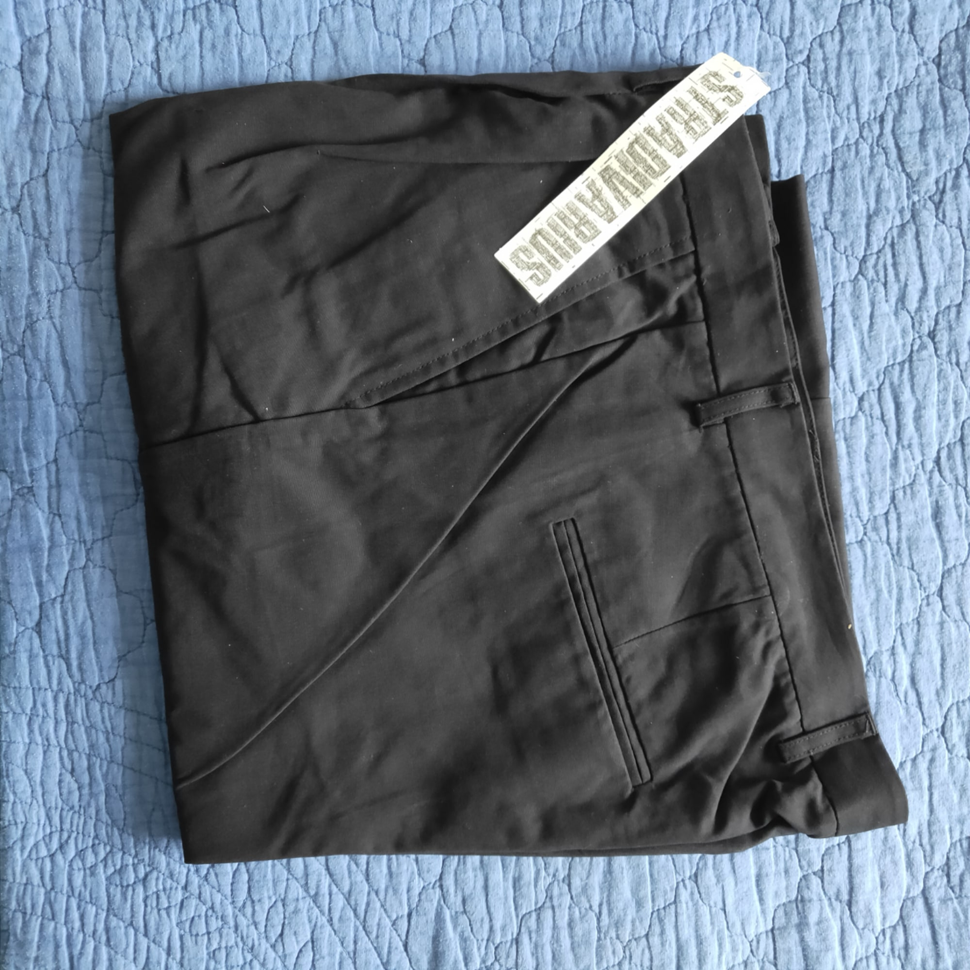 Pantalon droit STRADIVARIUS Noir