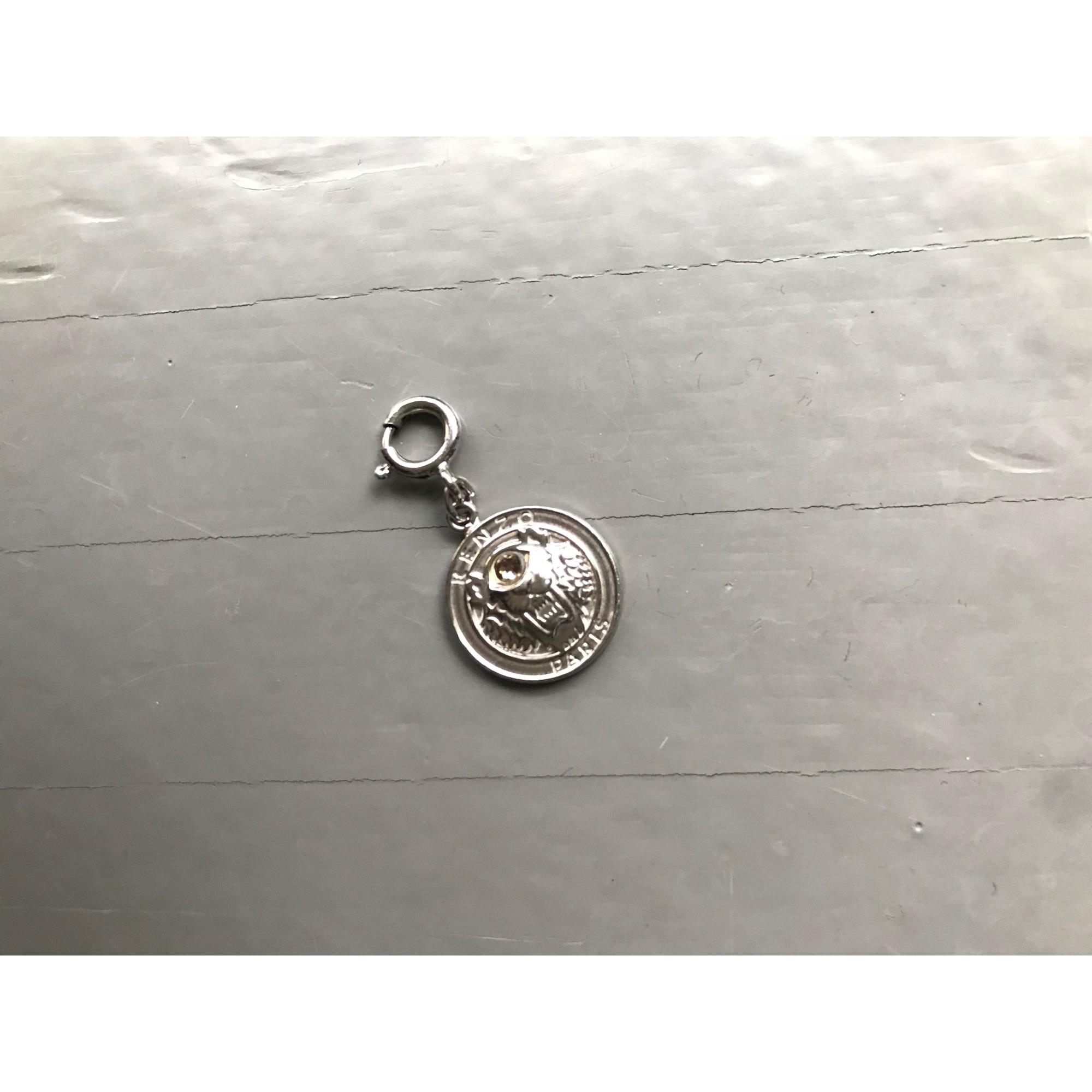 Pendentif, collier pendentif KENZO Argenté, acier