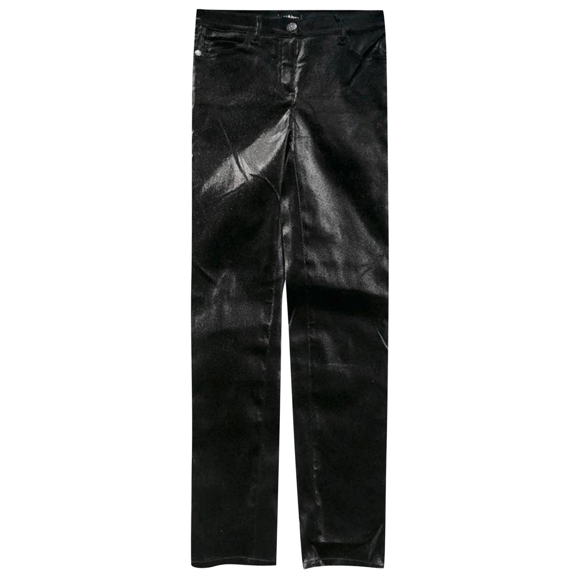 Pantalon slim, cigarette CHANEL Noir