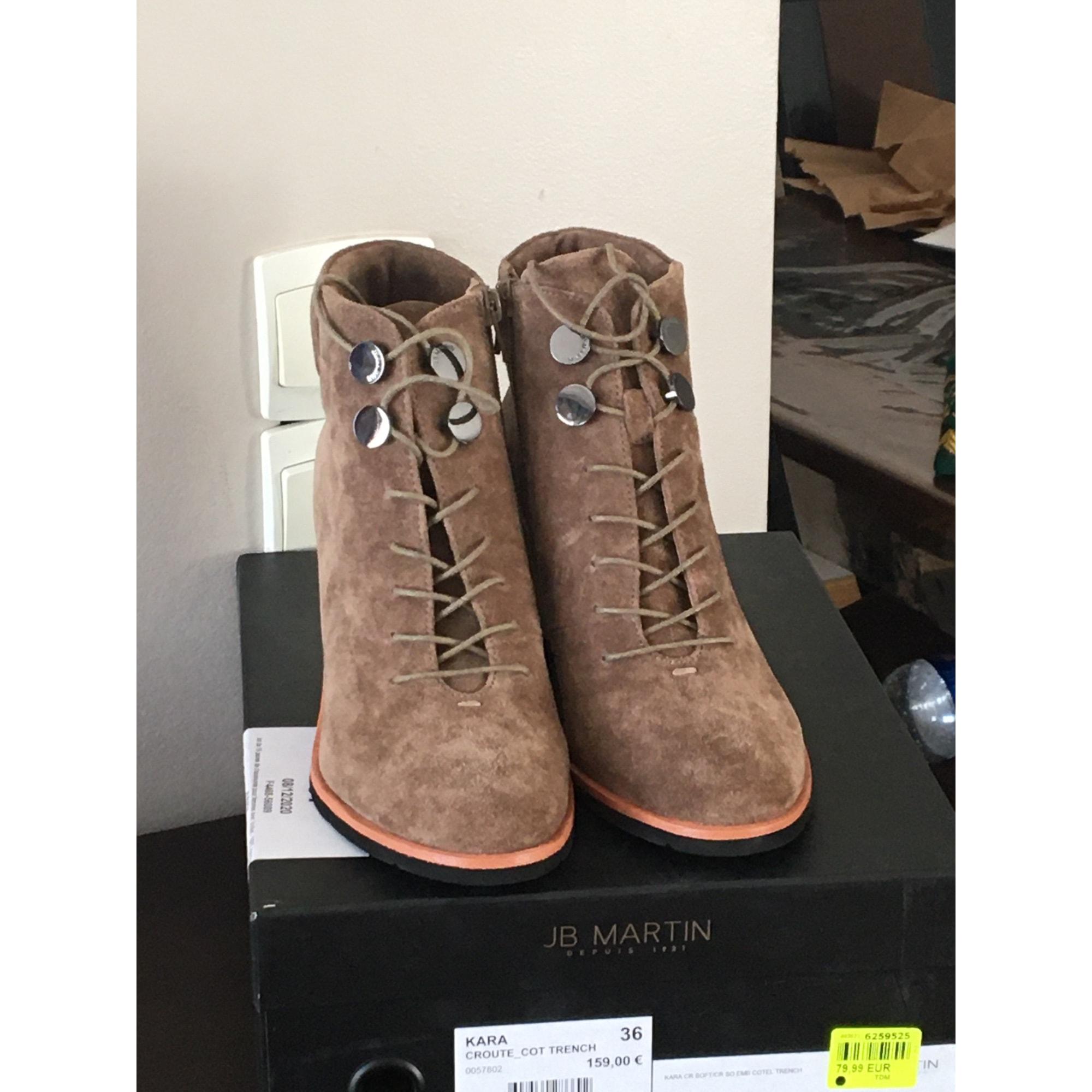 Bottines & low boots à compensés JB MARTIN Beige, camel