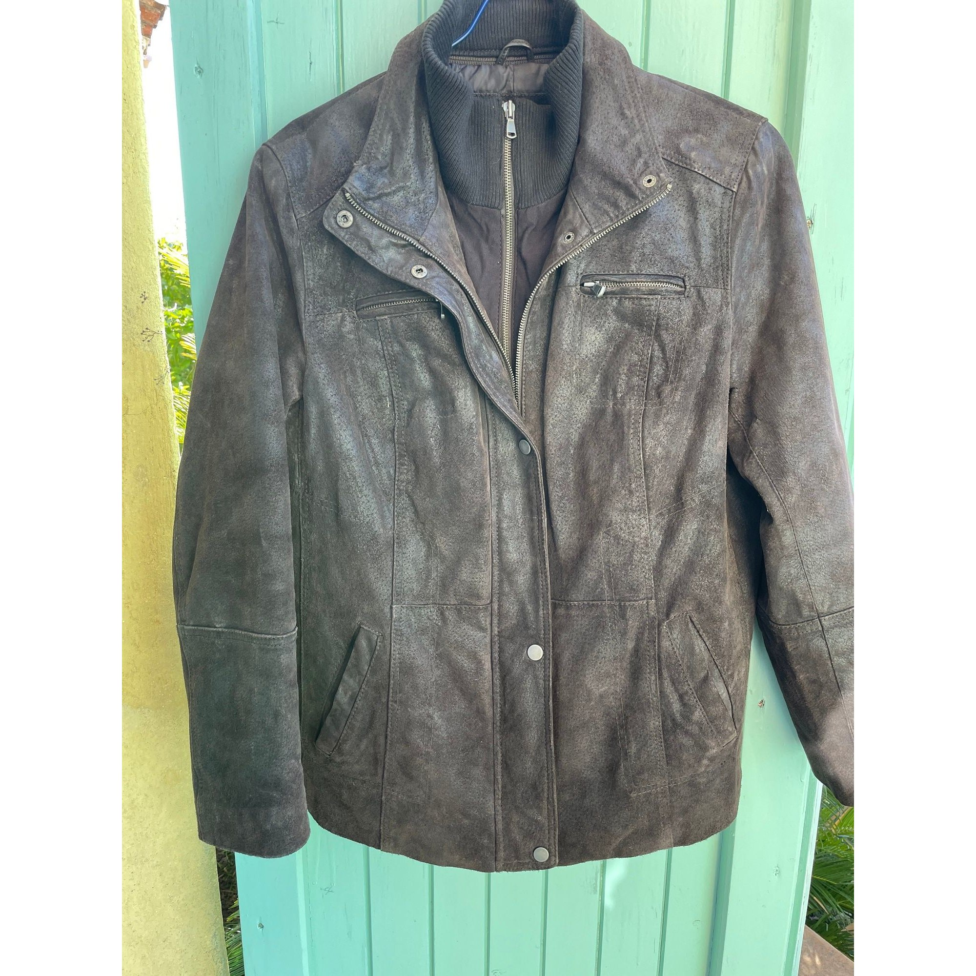 Manteau en cuir MAC DOUGLAS Marron