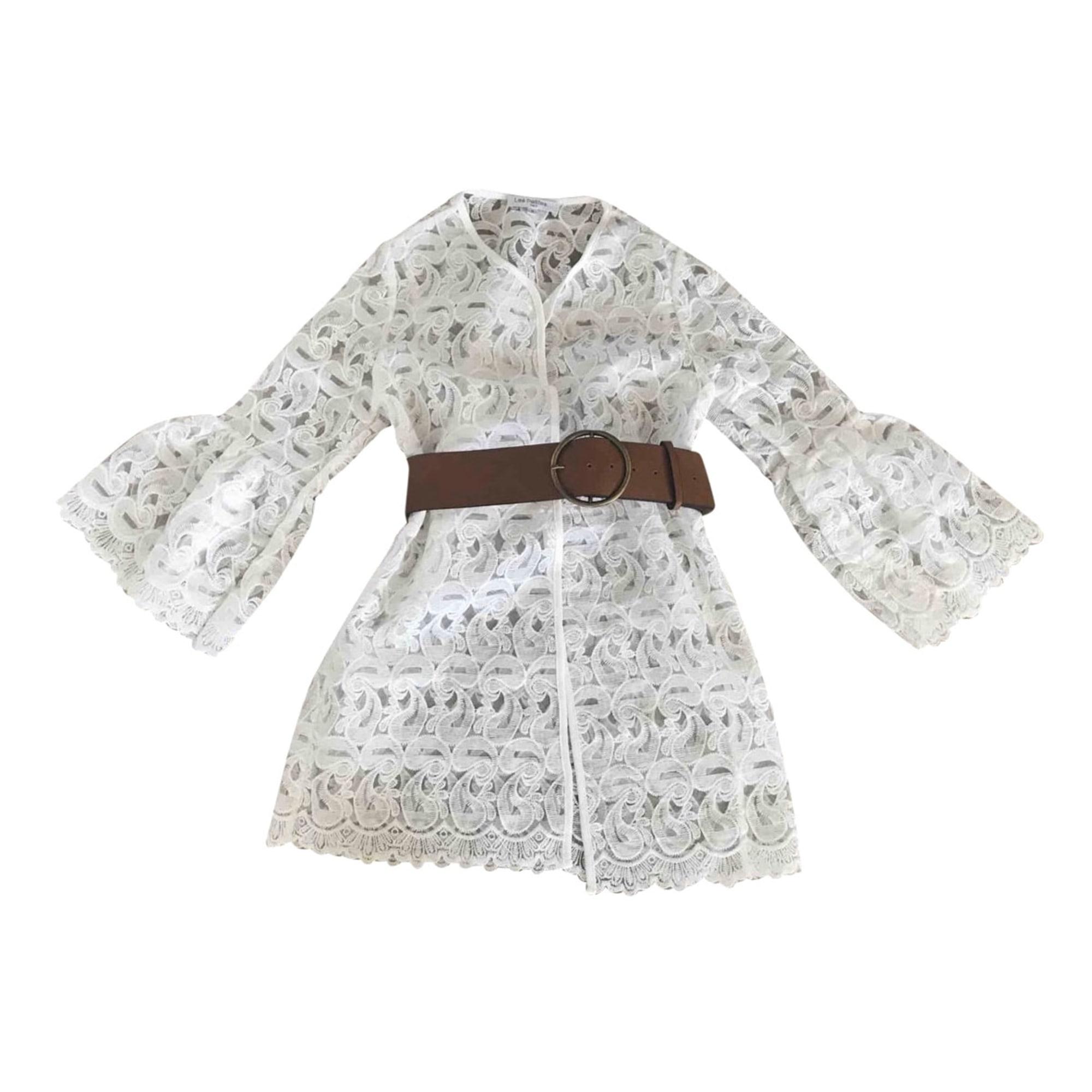 Robe tunique LES PETITES... Blanc, blanc cassé, écru