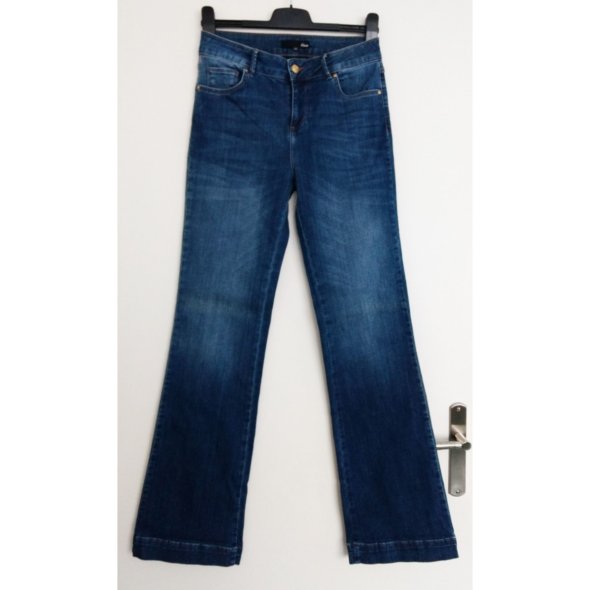 Jeans évasé, boot-cut ETAM Bleu, bleu marine, bleu turquoise