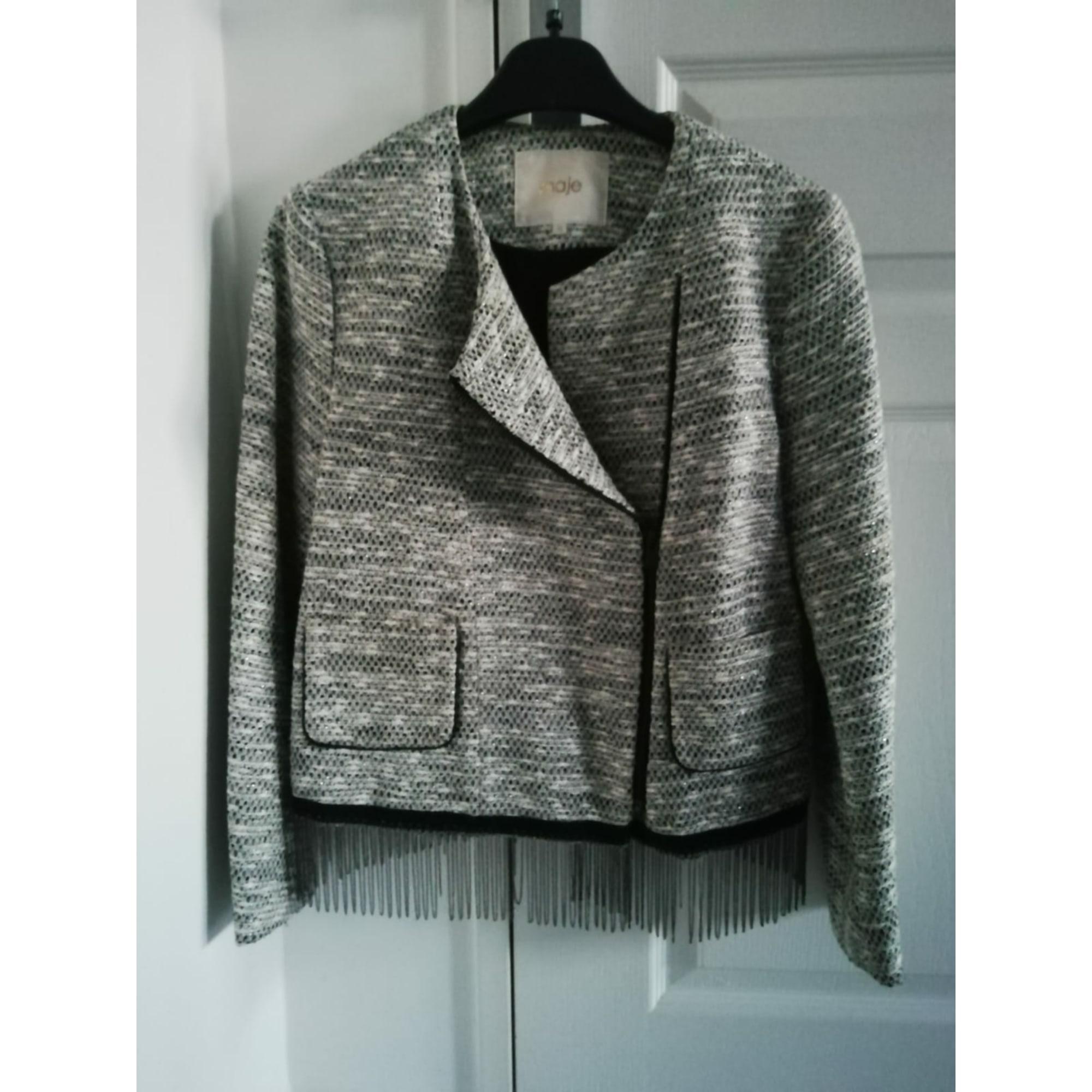 Blazer, veste tailleur MAJE Argenté, acier