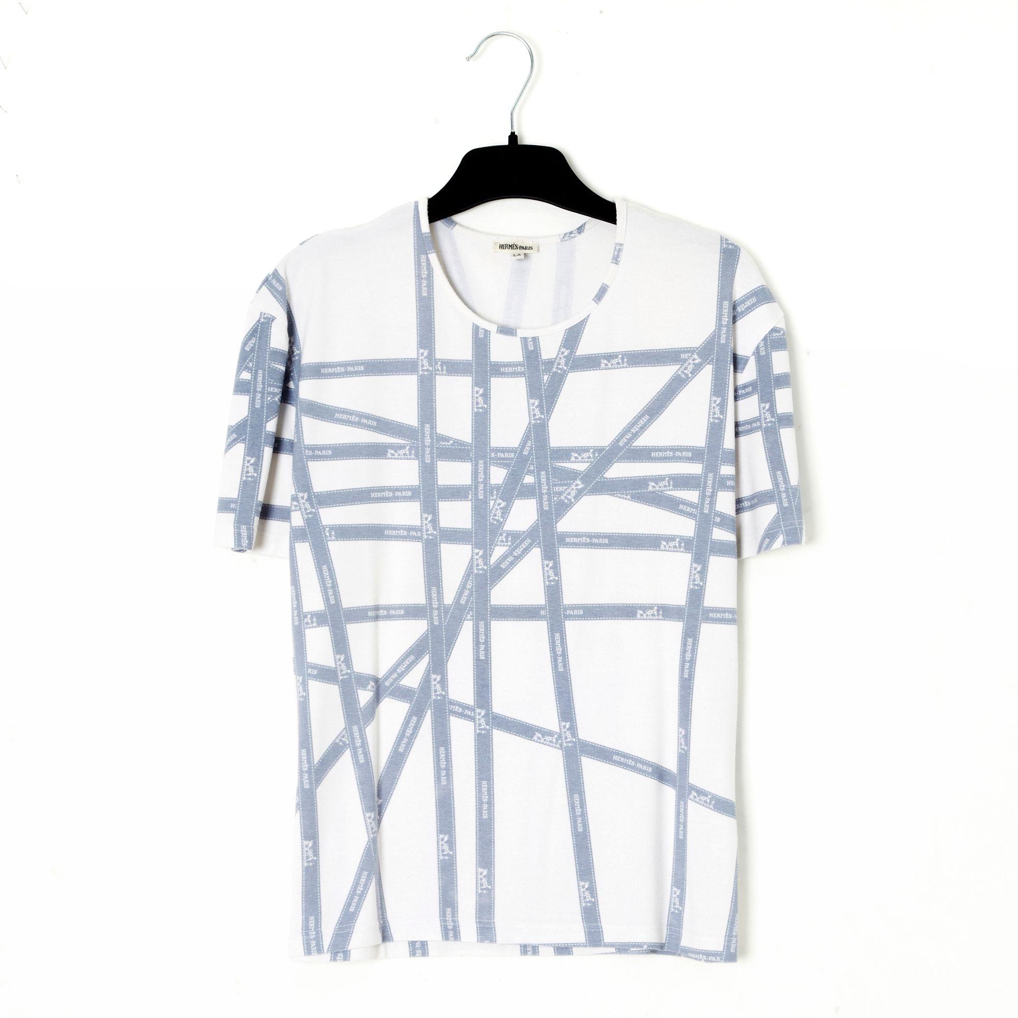 Top, tee-shirt HERMÈS Blanc, blanc cassé, écru
